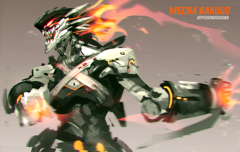 Anime 6000x3803 anime Boku no Hero Academia futuristic armor futuristic mech Katsuki Bakugou