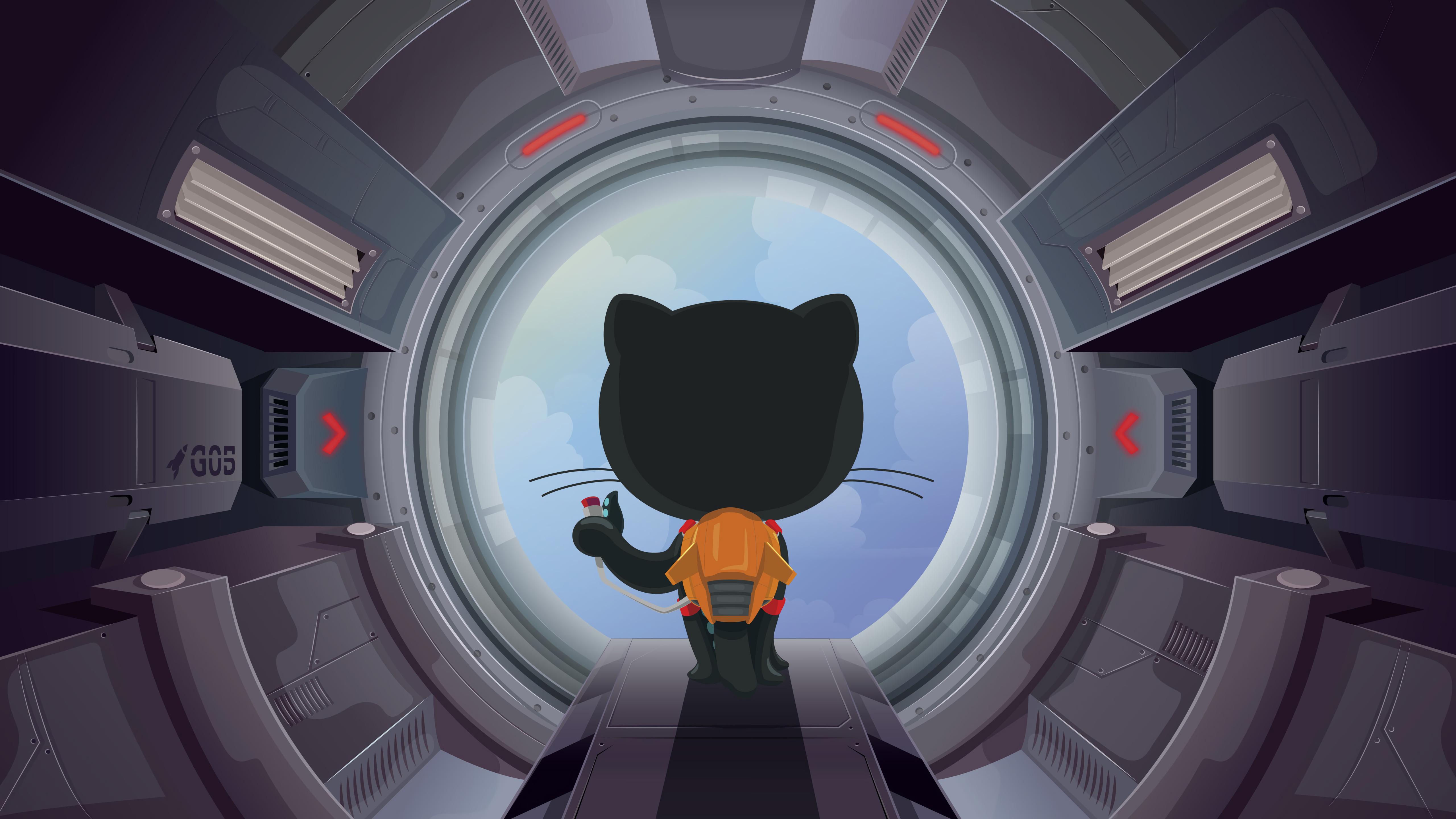 General 5120x2880 github cats artwork science fiction Octocat cyberpunk 4K