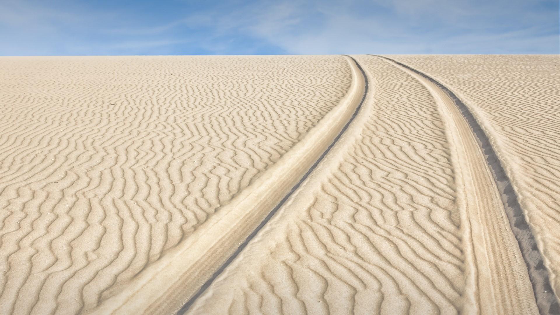 General 1920x1080 sand clouds sky Sand Ripples tire mark dunes Brazil Jericoacoara National Park nature landscape