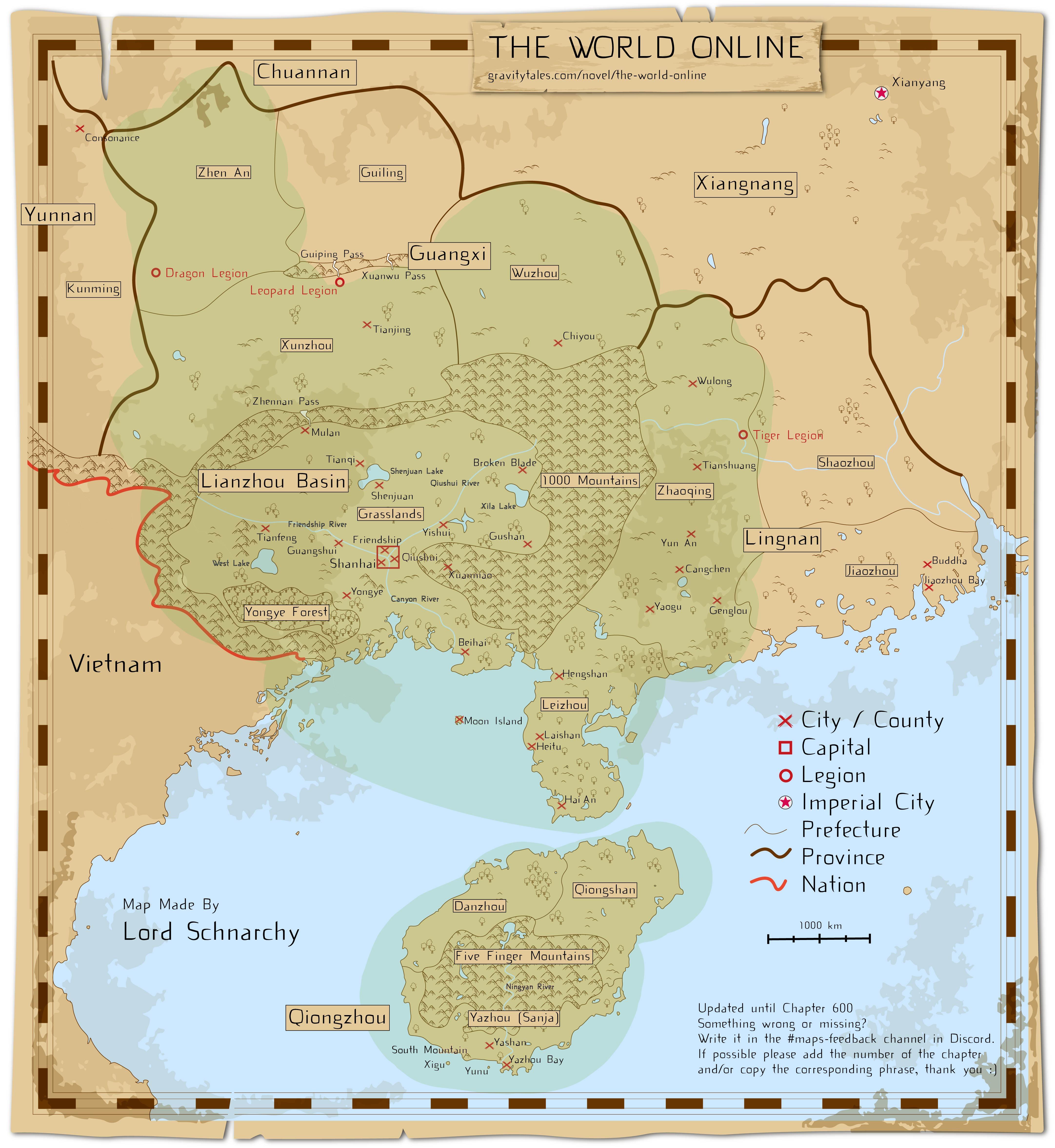 General 4326x4708 The World Online map Light Novel