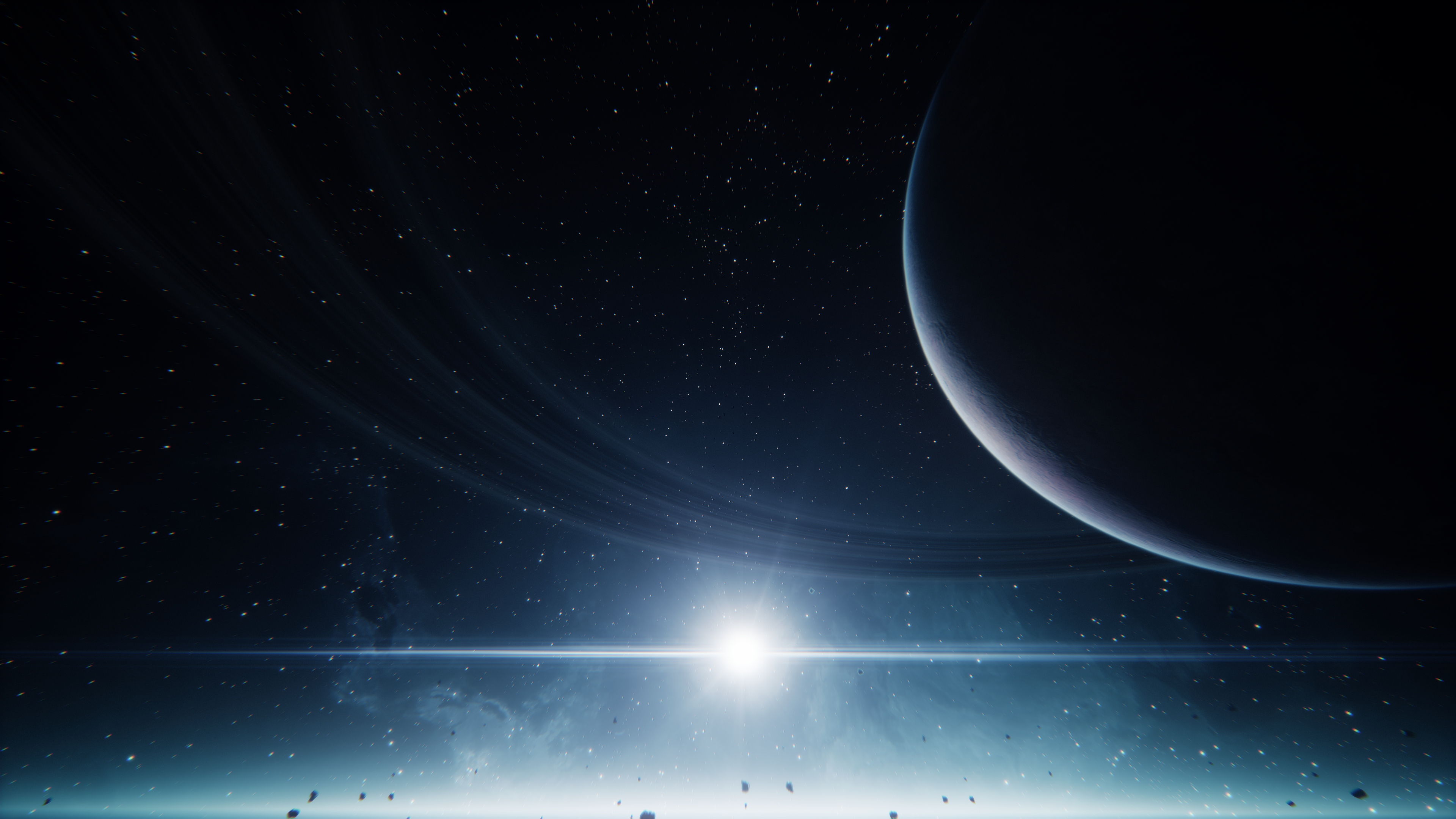 General 3840x2160 everspace space stars planetary rings