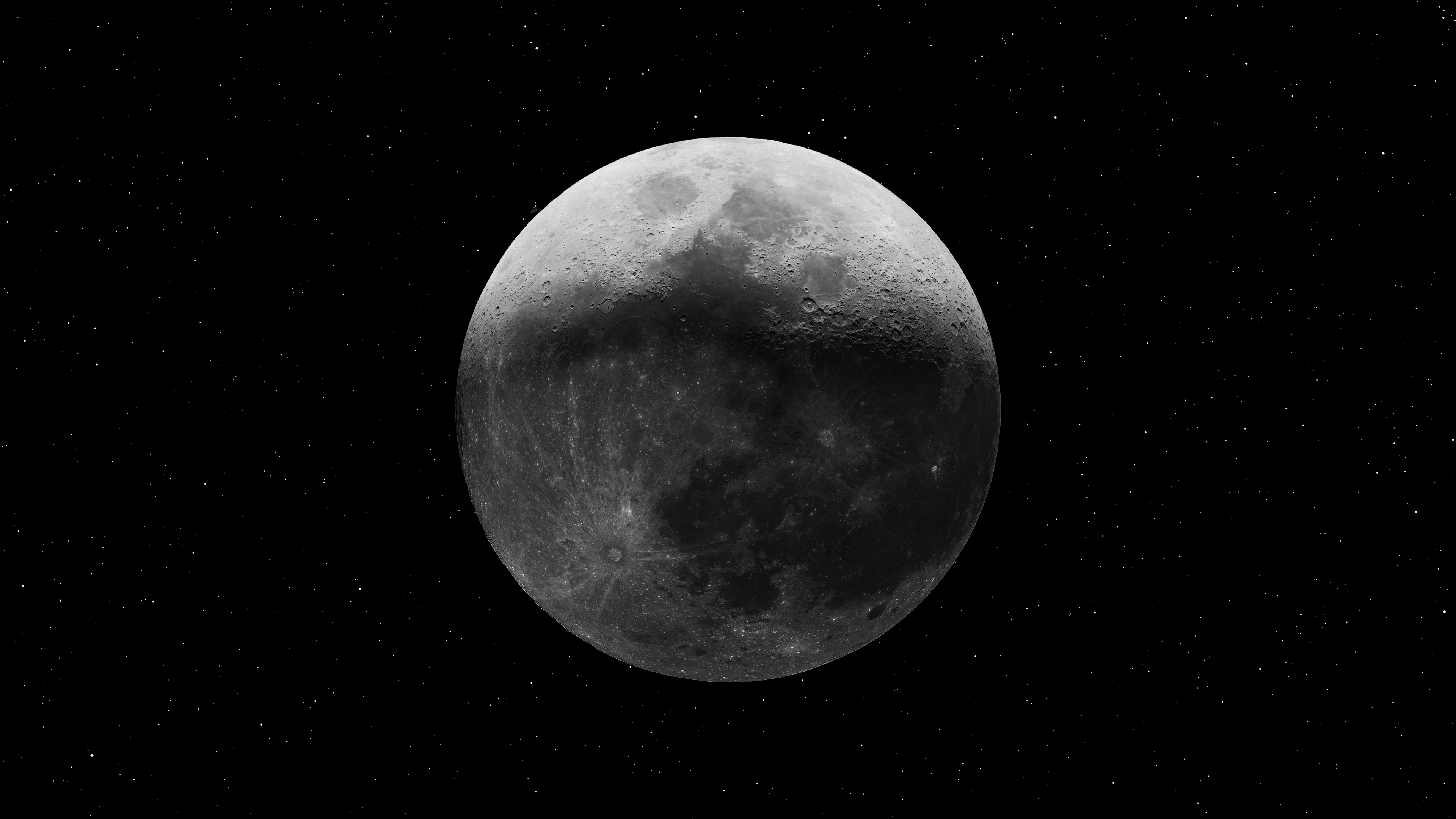 General 3840x2160 Moon space stars HDR