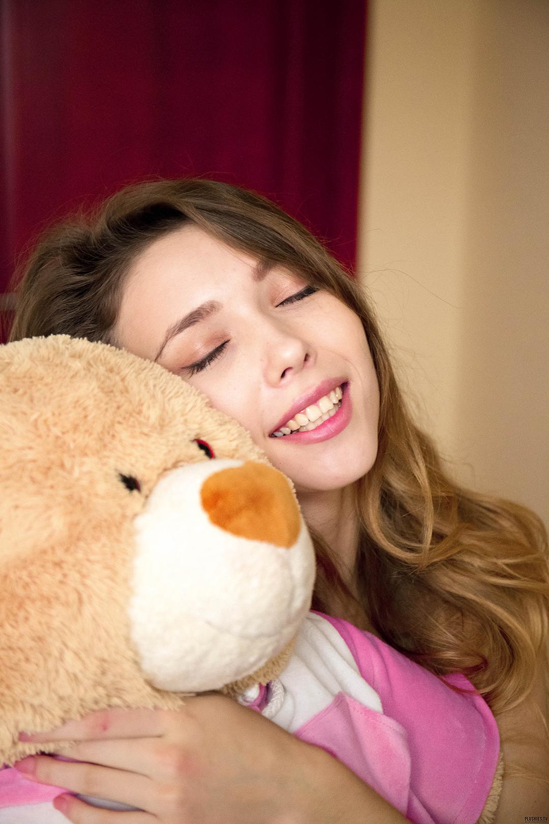 People 1080x1620 Mila Azul women smiling Toy closed eyes women indoors portrait display teddy bears pornstar ekaterina volkova