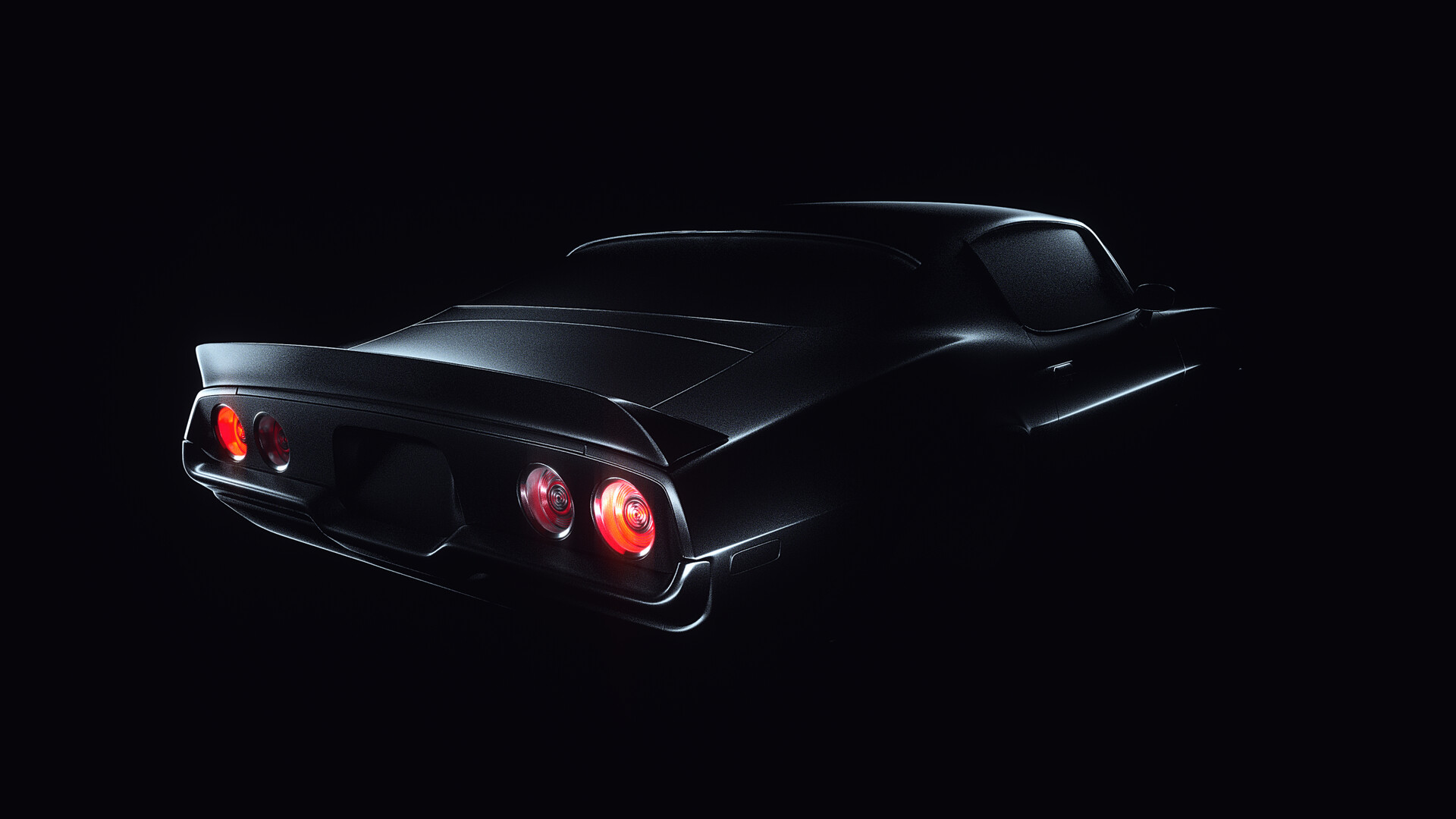 General 1920x1080 car black background lines digital art lights flashlight black shadow Chevrolet Camaro Camaro