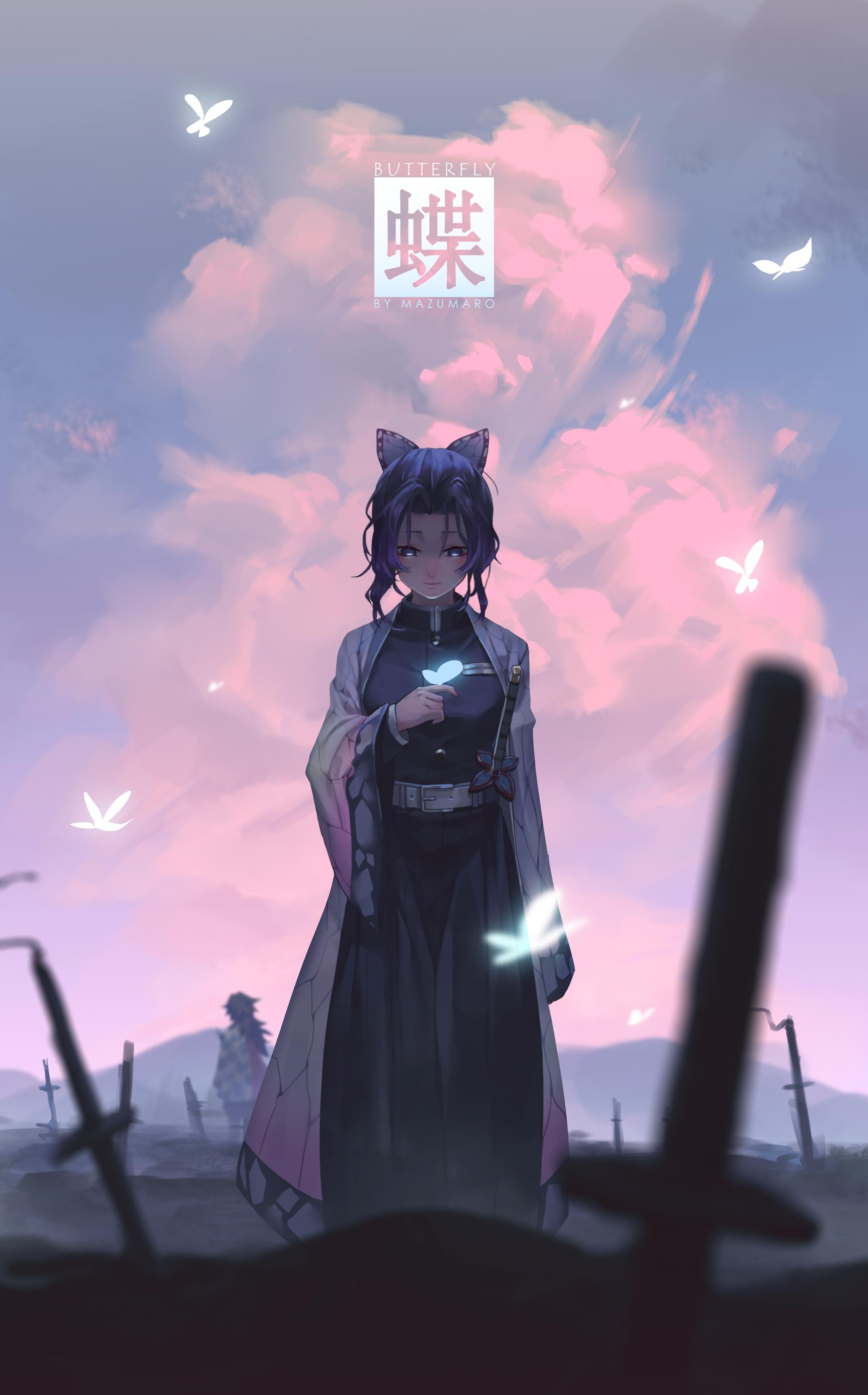 Anime 2184x3508 Kimetsu no Yaiba digital art frontal view