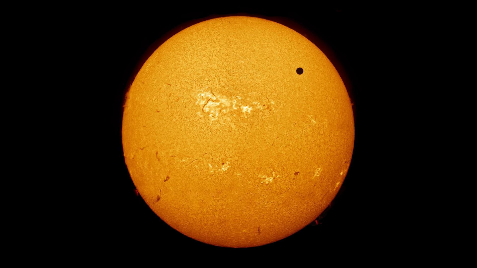 General 1920x1080 space Sun Venus astronomy orange
