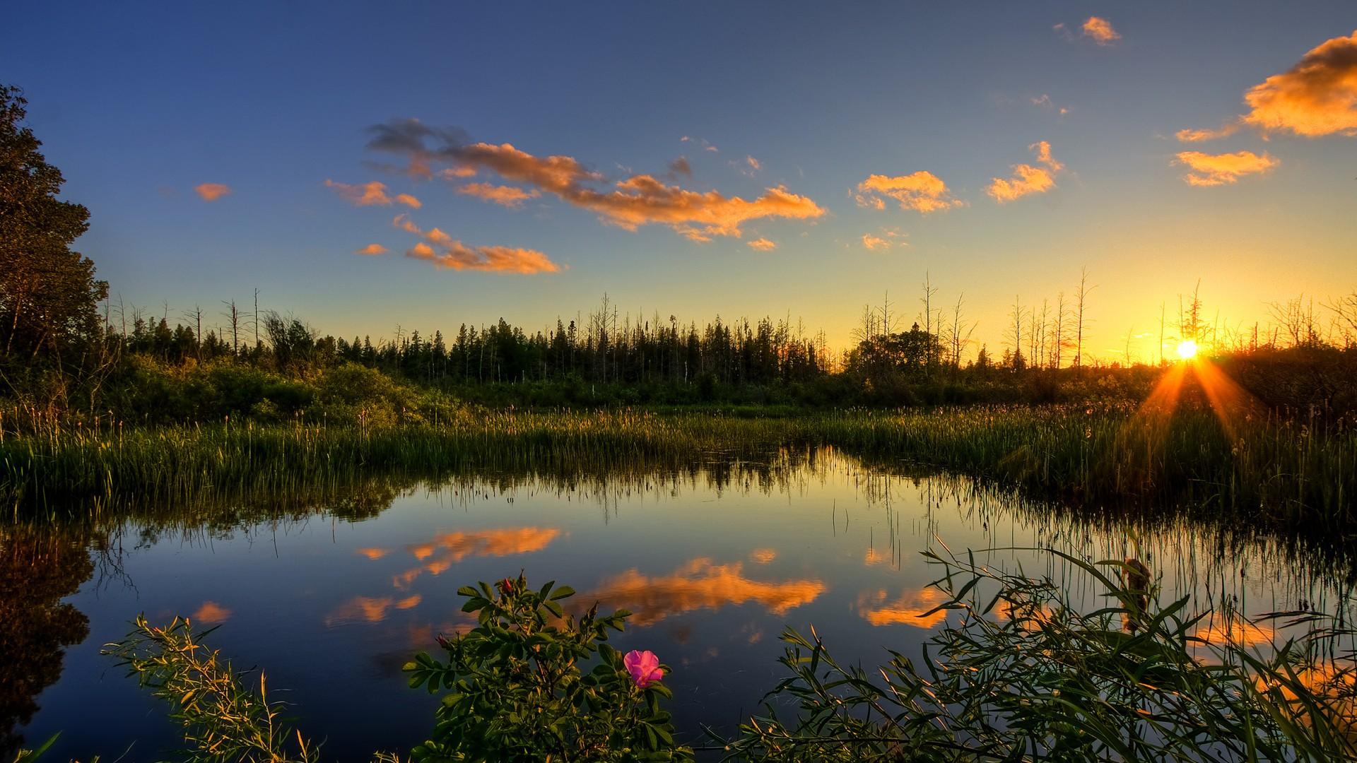 General 1920x1080 nature sunset lake