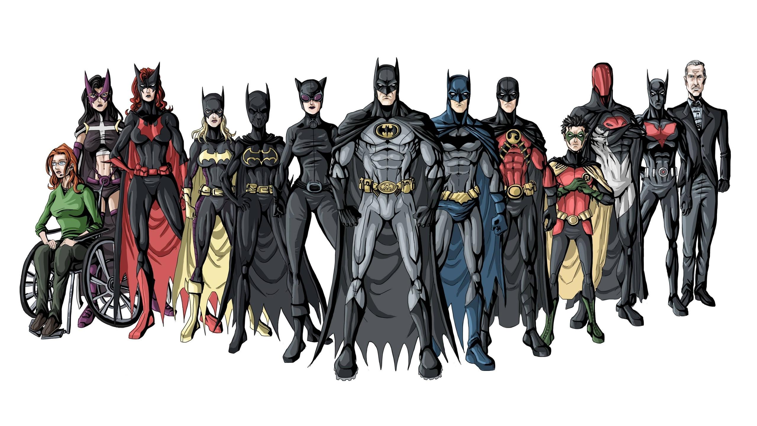 General 2560x1440 Batman Batgirl Batwoman Catwoman Robin (character) Alfred superhero Oracle Batman Beyond