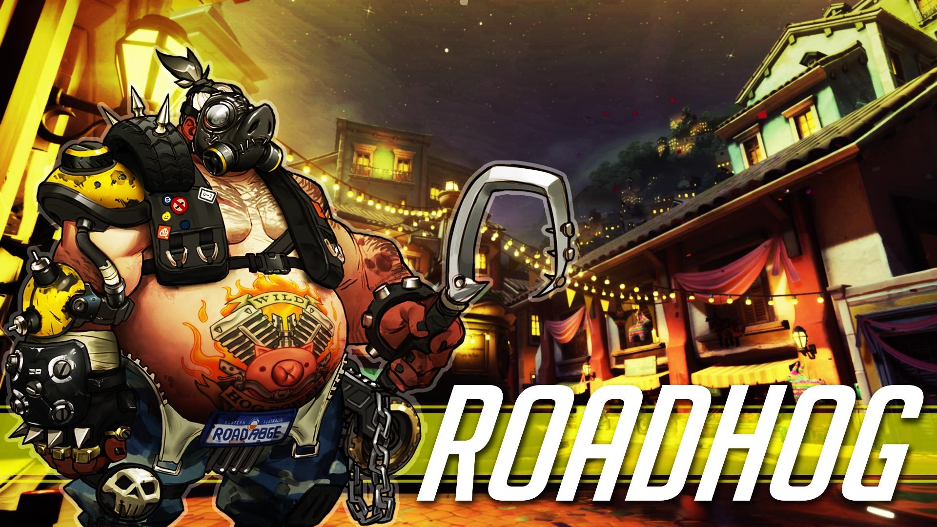 General 1920x1080 Overwatch Blizzard Entertainment video games livewirehd (Author) Roadhog Mako Rutledge