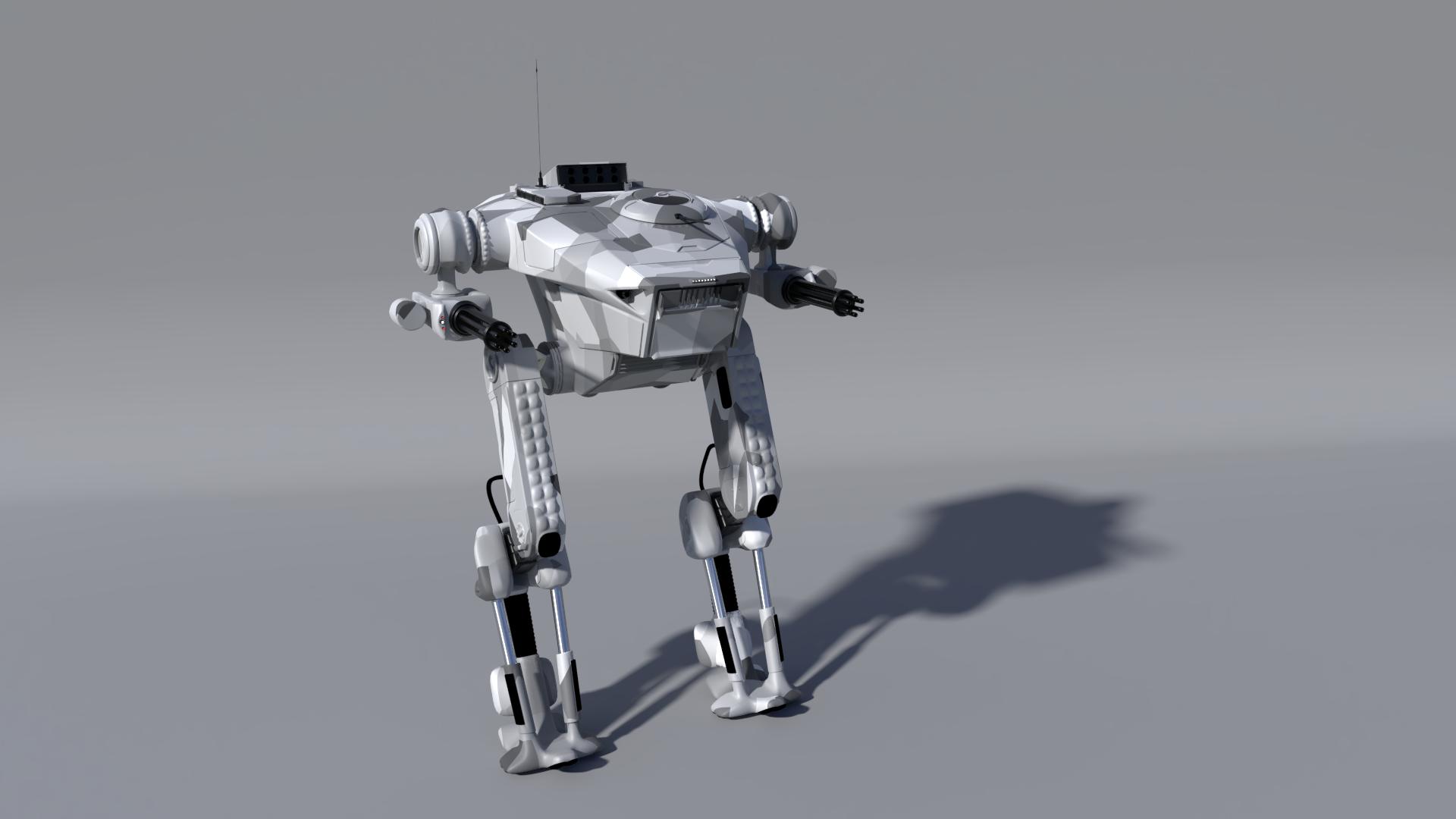 General 1920x1080 robot wireframe 3D digital art