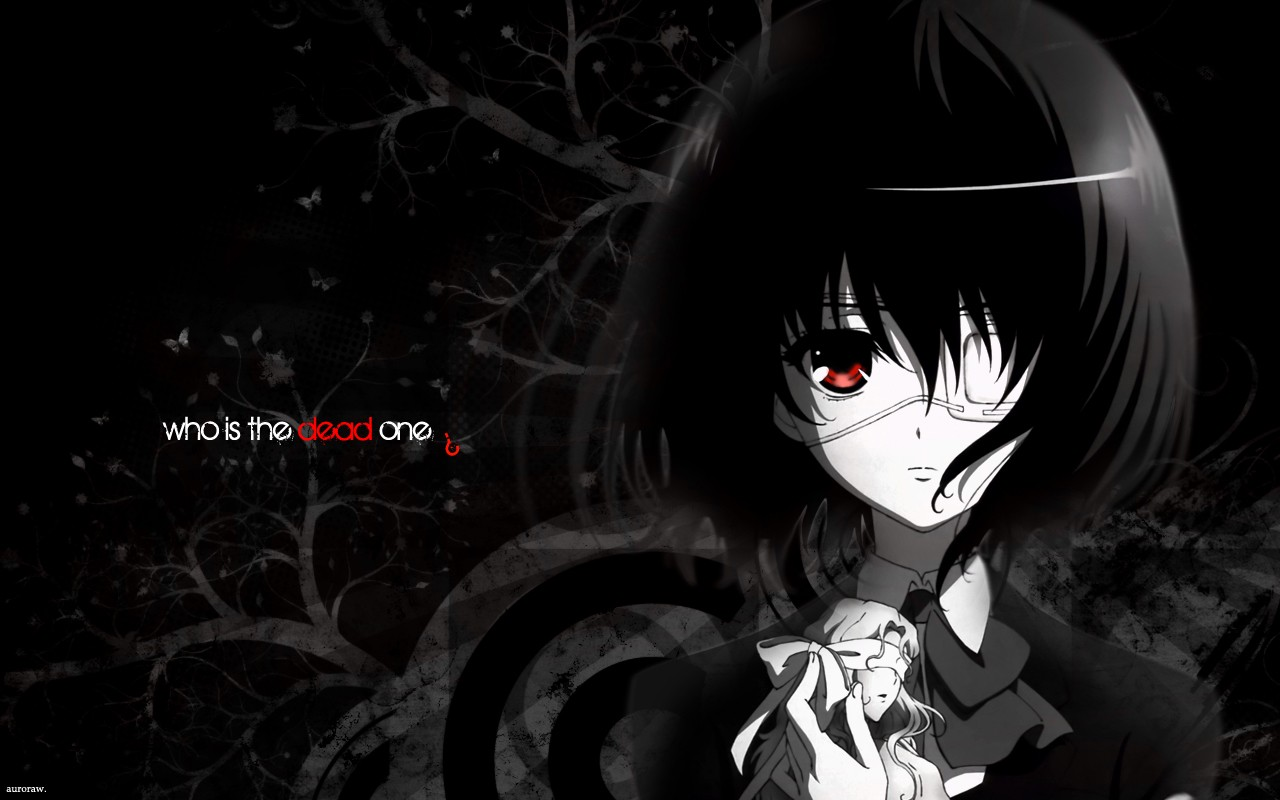 Anime 1280x800 manga anime girls red eyes dark hair eyepatches