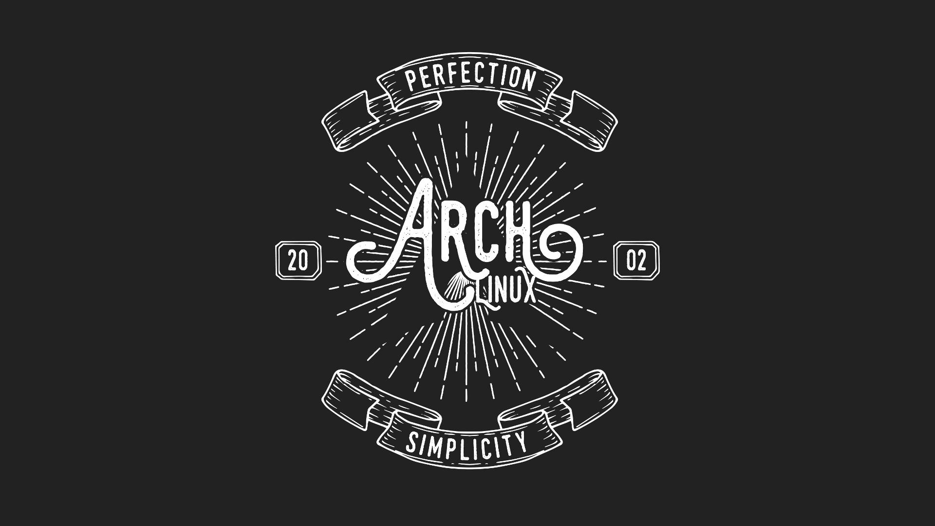 General 1920x1080 Archlinux Linux simple background black background dark gray