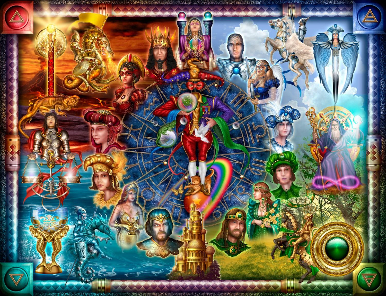 General 1500x1148 tarot digital art colorful Zodiac