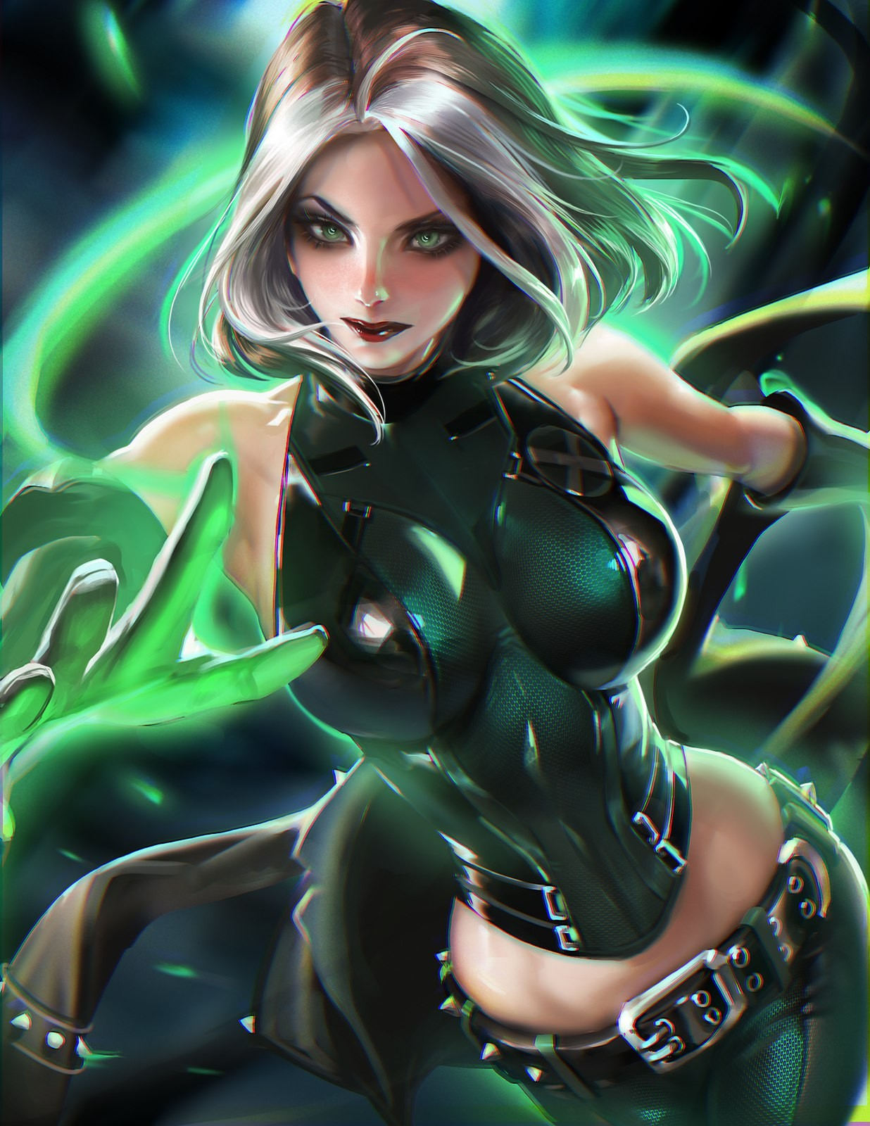 Anime 1236x1600 Sakimichan realistic X-Men Rogue Rogue (character) Rogue (X-men)