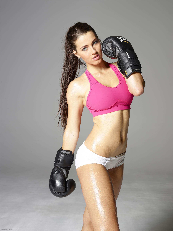 People 2254x3000 model women face looking at viewer boxing fitness model Hegre-Art Yara Eggiman sports bra