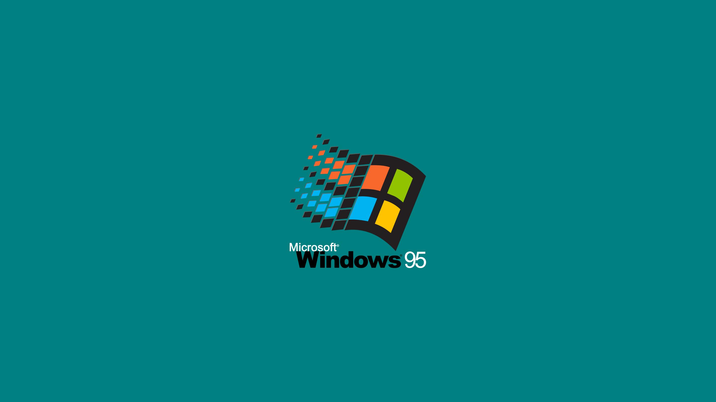 General 2845x1600 Windows 95 Microsoft Windows logo digital art