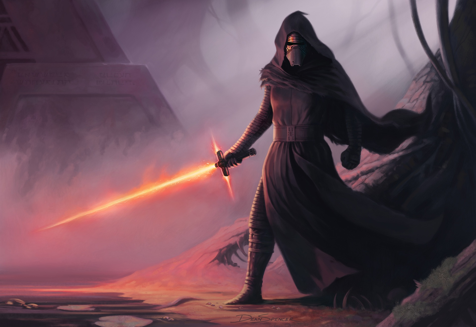 General 1920x1320 Star Wars Kylo Ren lightsaber artwork