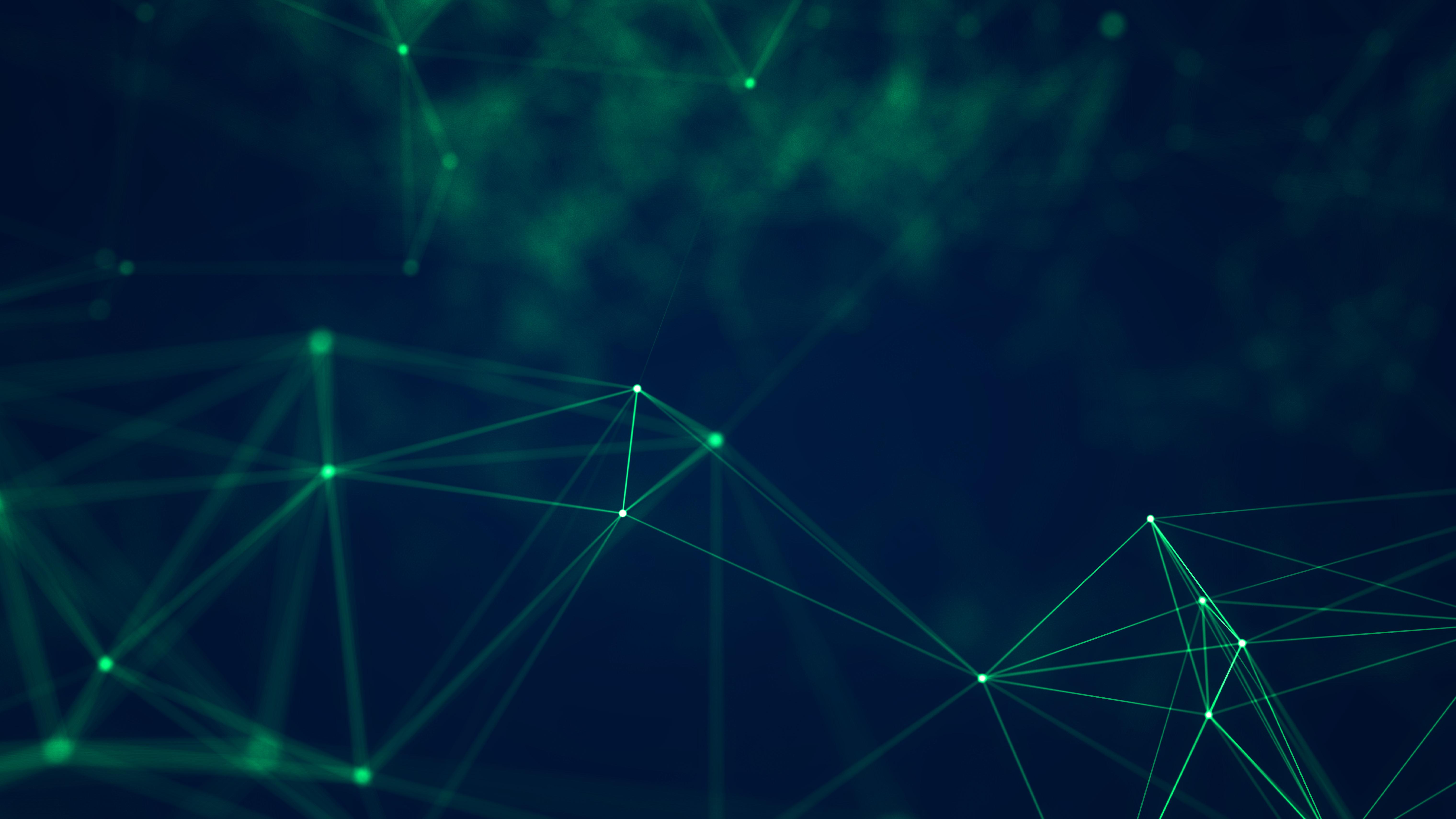 General 6080x3420 geometry cyberspace digital art green lines abstract