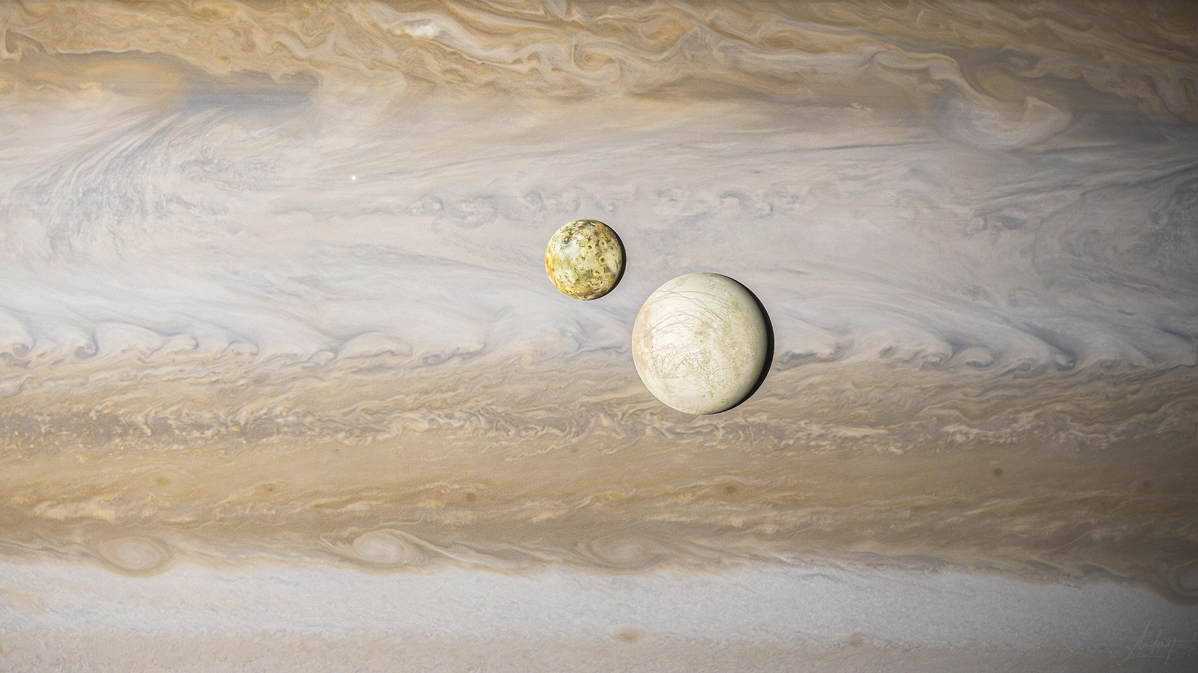 General 3840x2160 space Space Engine Jupiter