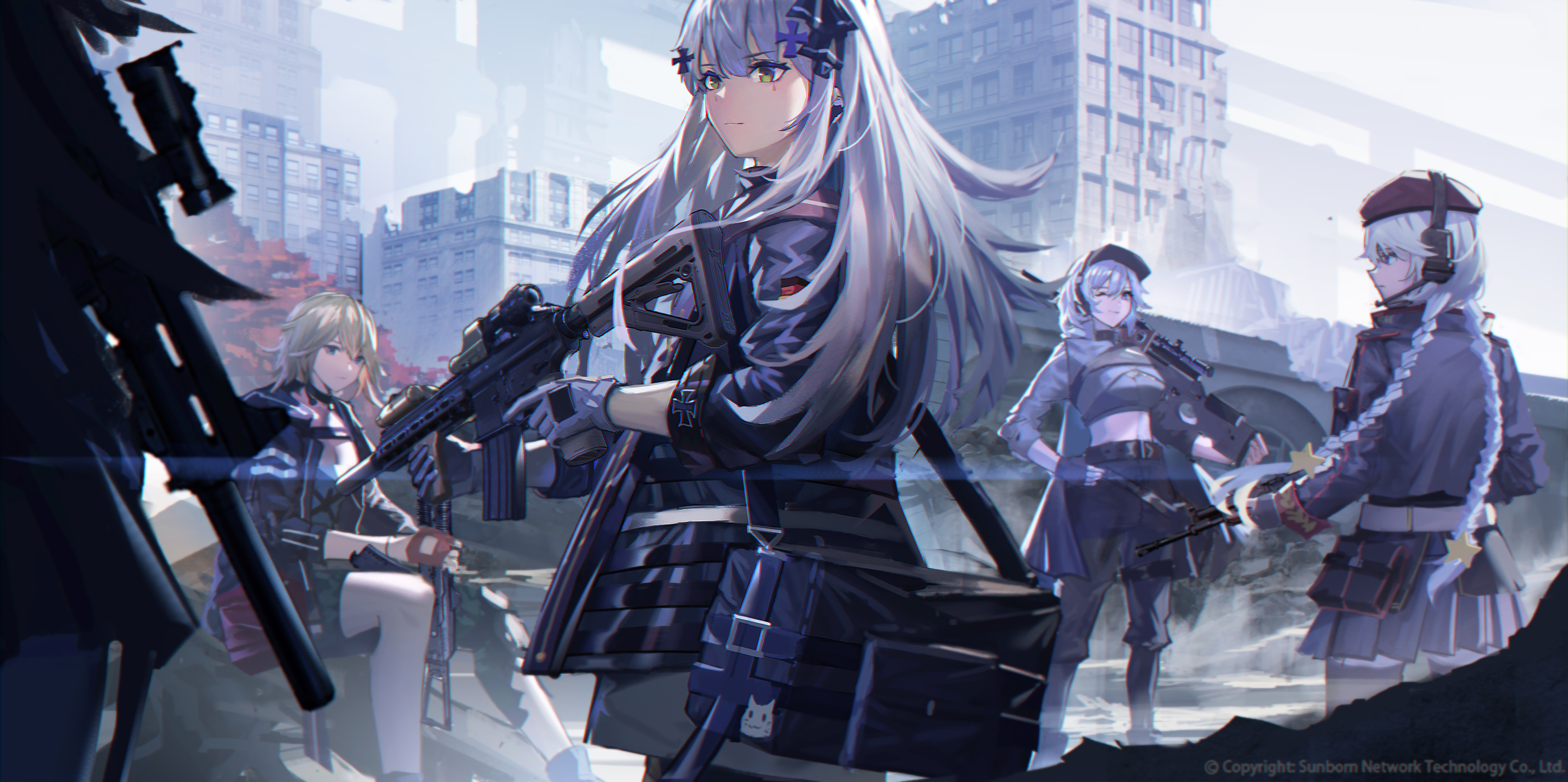 Anime 3000x1496 anime anime girls digital art artwork 2D portrait Girls Frontline HK416 (Girls Frontline)