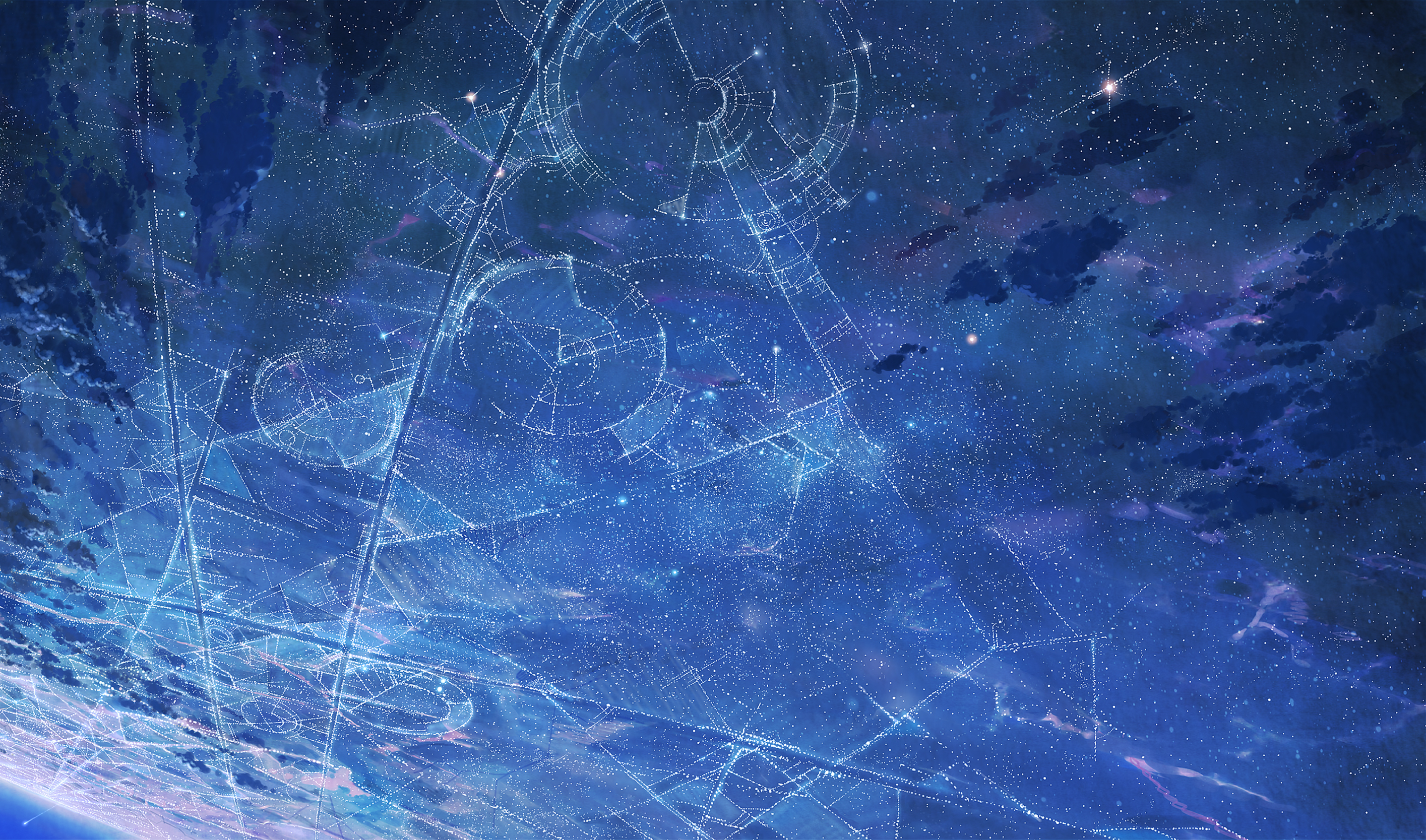 General 2829x1667 sky stars artwork space space art