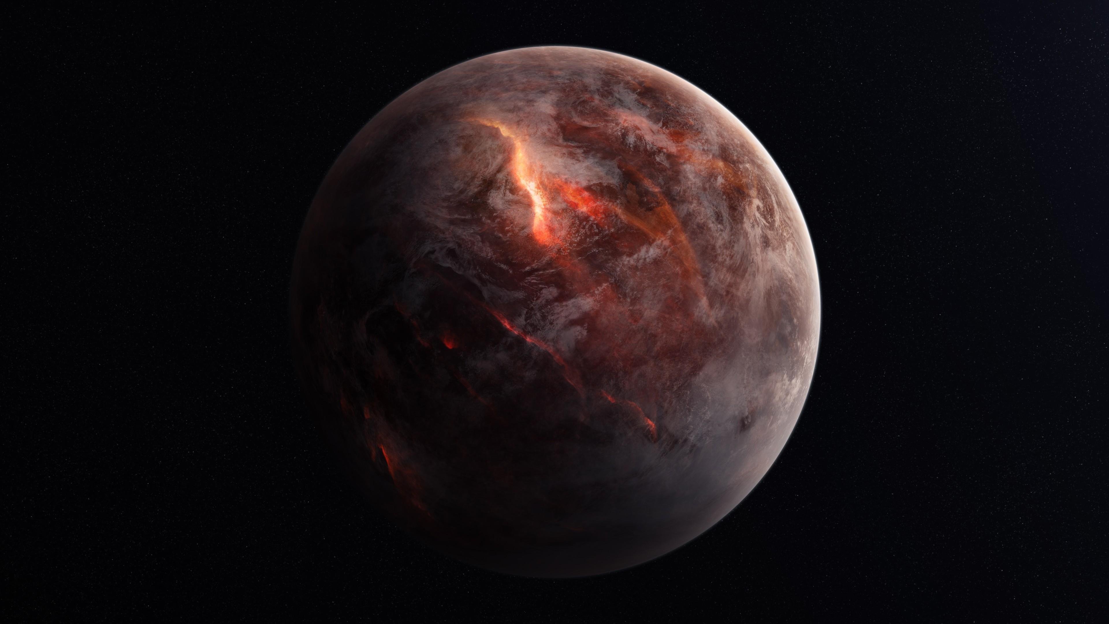 General 3840x2160 planet space space art digital art