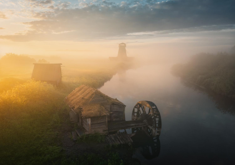 General 1500x1054 Ilya Melikhov landscape mist tower hay mill wheels river clouds
