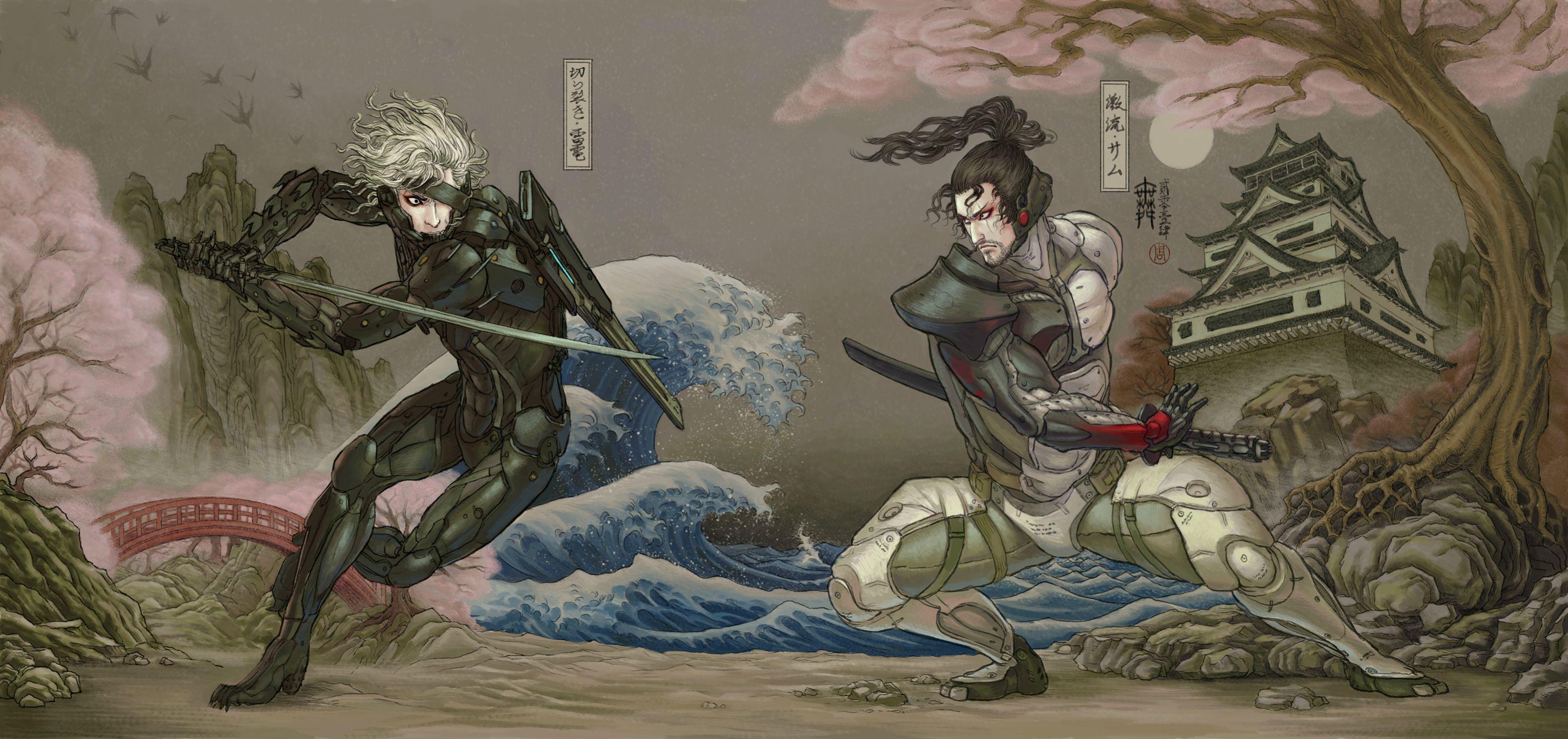 General 3156x1488 Metal Gear Rising: Revengeance Japanese Art video game art Raiden Sam