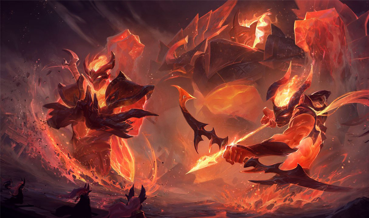 General 1419x837 Galio Varus (League of Legends) Shen (League of Legends) League of Legends Riot Games Infernal video games skin fire