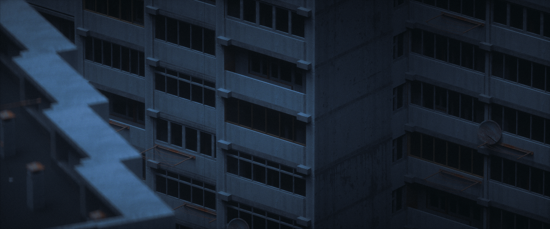 General 3000x1255 city 3D Cinema4D  building Soviet Union depressing town render