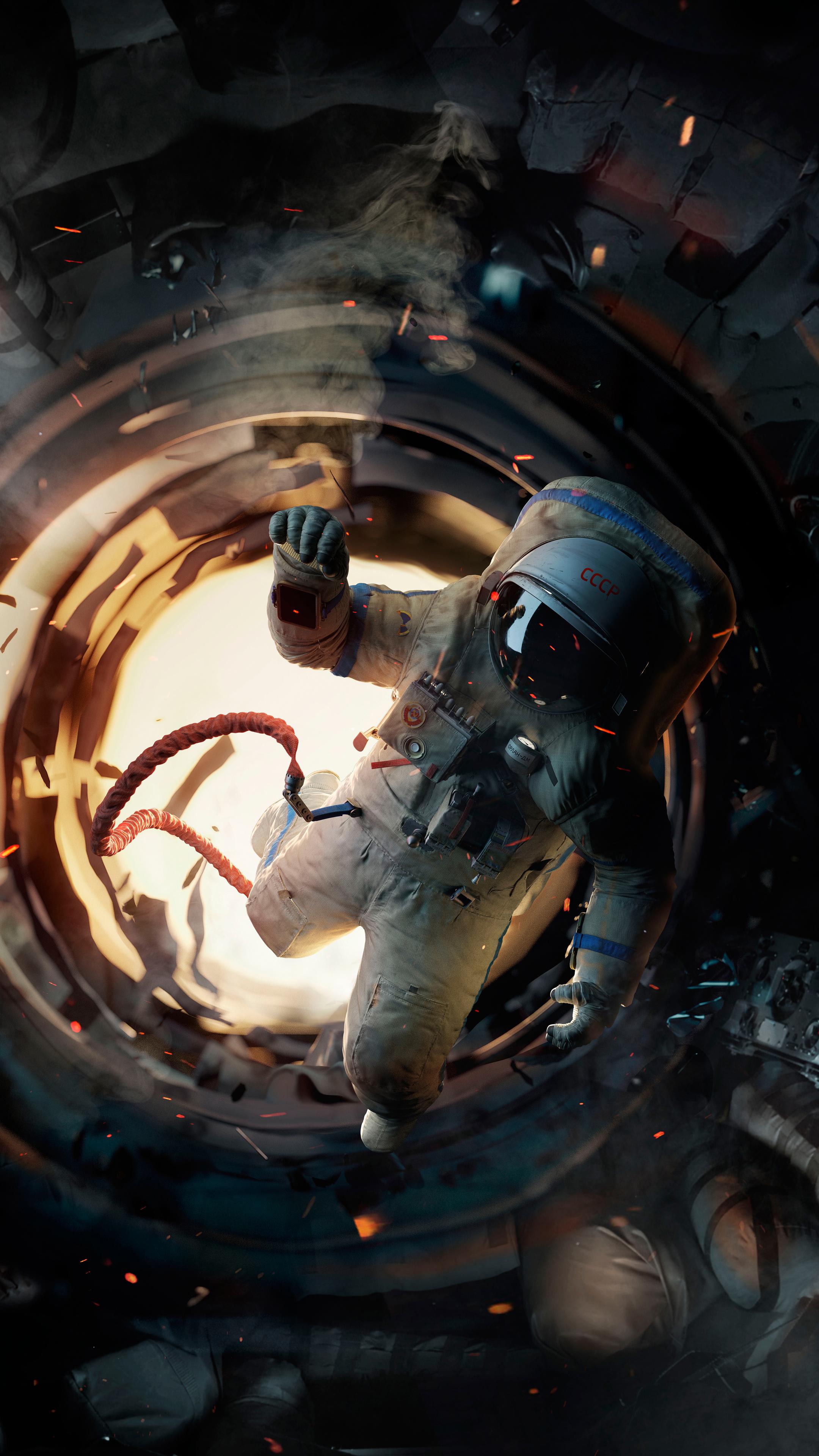 General 2160x3840 3D astronaut portrait display space space suit USSR