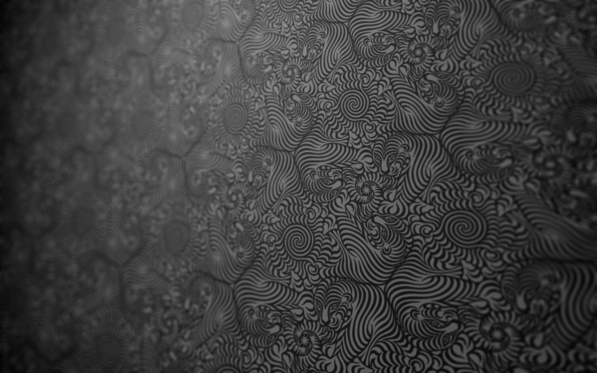 General 1920x1200 tiger abstract pattern monochrome artwork digital art textured texture fractal tassellation