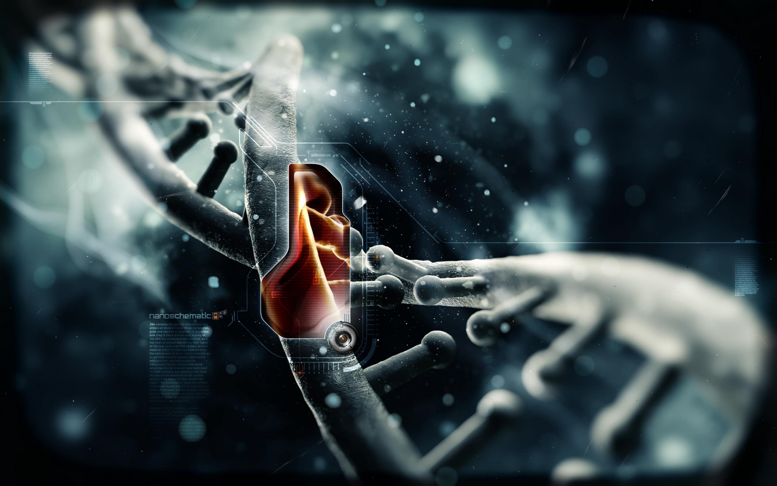 General 2560x1600 DNA digital art science technology render CGI 3D