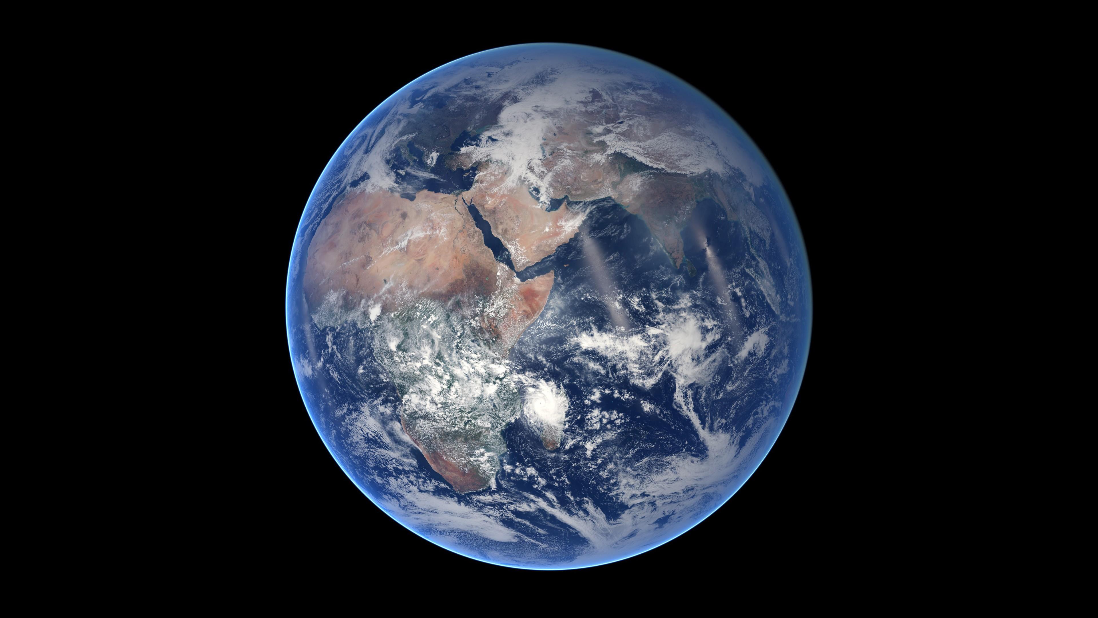 General 3840x2160 Earth minimalism space render space art digital art CGI planet