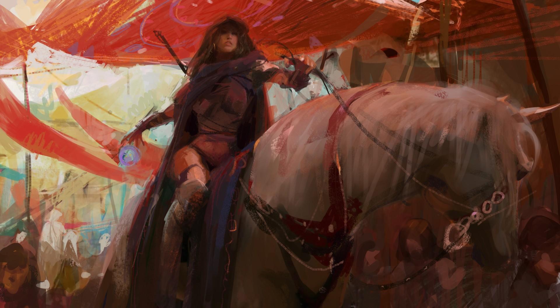 General 1920x1056 fantasy art fantasy girl horse artwork
