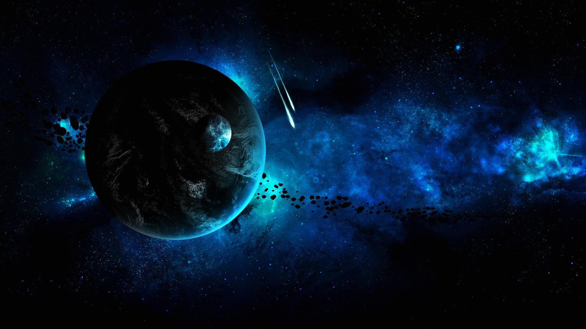 General 1920x1080 galaxy planet space art space digital art