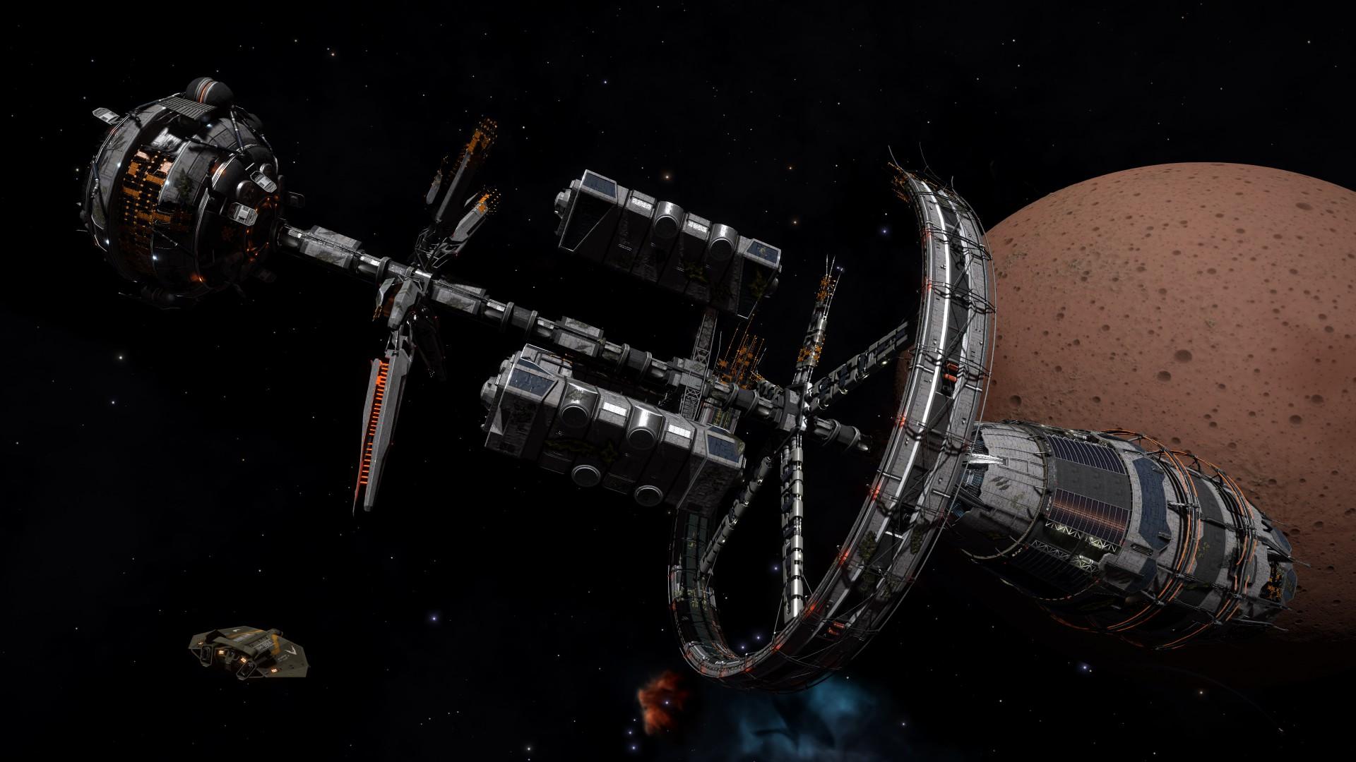 General 1920x1080 Elite: Dangerous space Space Simulator spaceship space station Starport Orbis Station Damaged Starport ASP Explorer