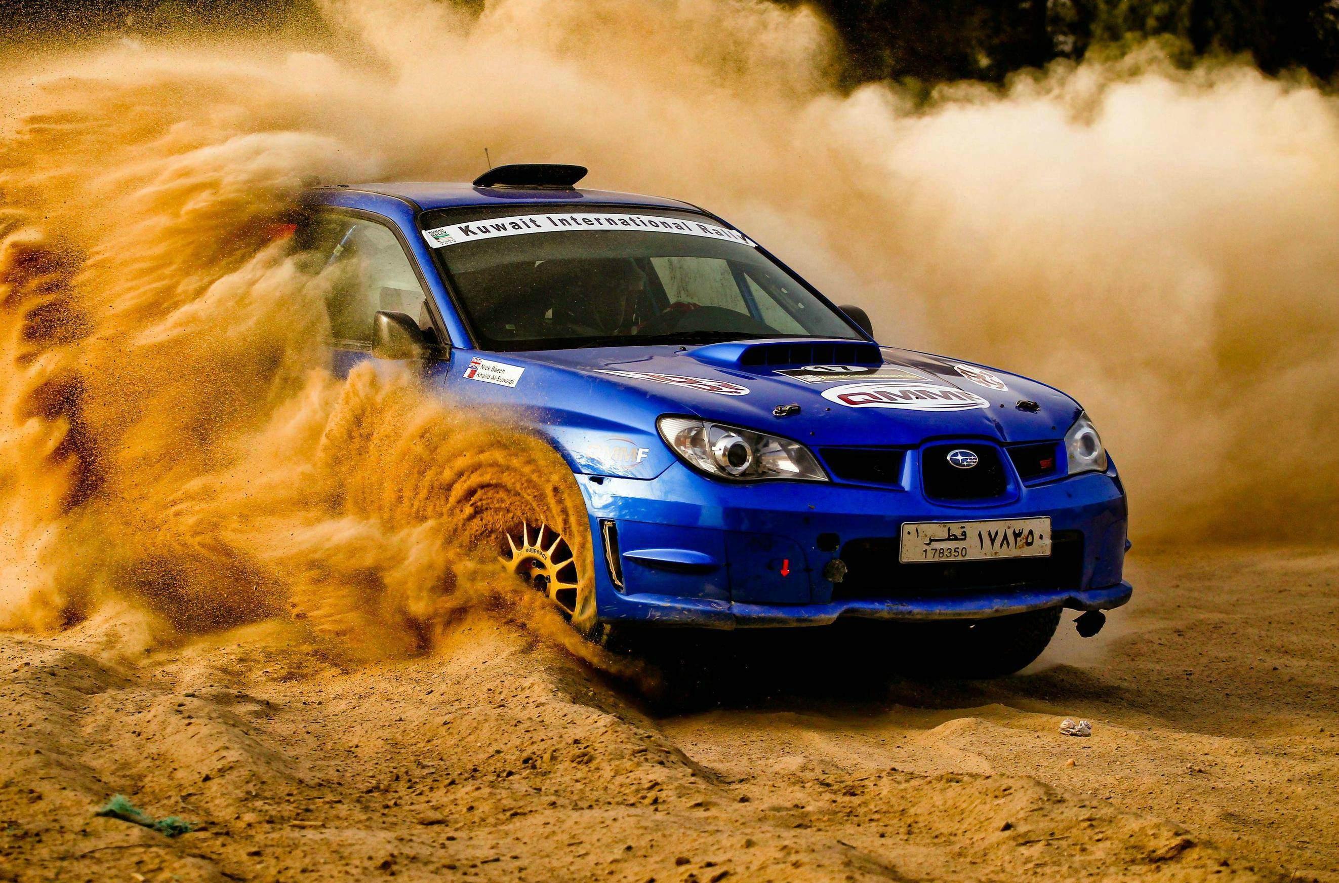 General 2645x1744 car Subaru Subaru Impreza WRX STi dirt vehicle blue cars numbers rally cars Rally racing sport