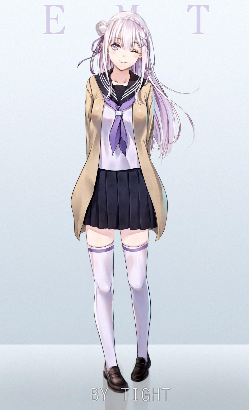 Anime 1050x1729 Re:Zero Kara Hajimeru Isekai Seikatsu anime girls Emilia (Re: Zero) Felt (Re:Zero)