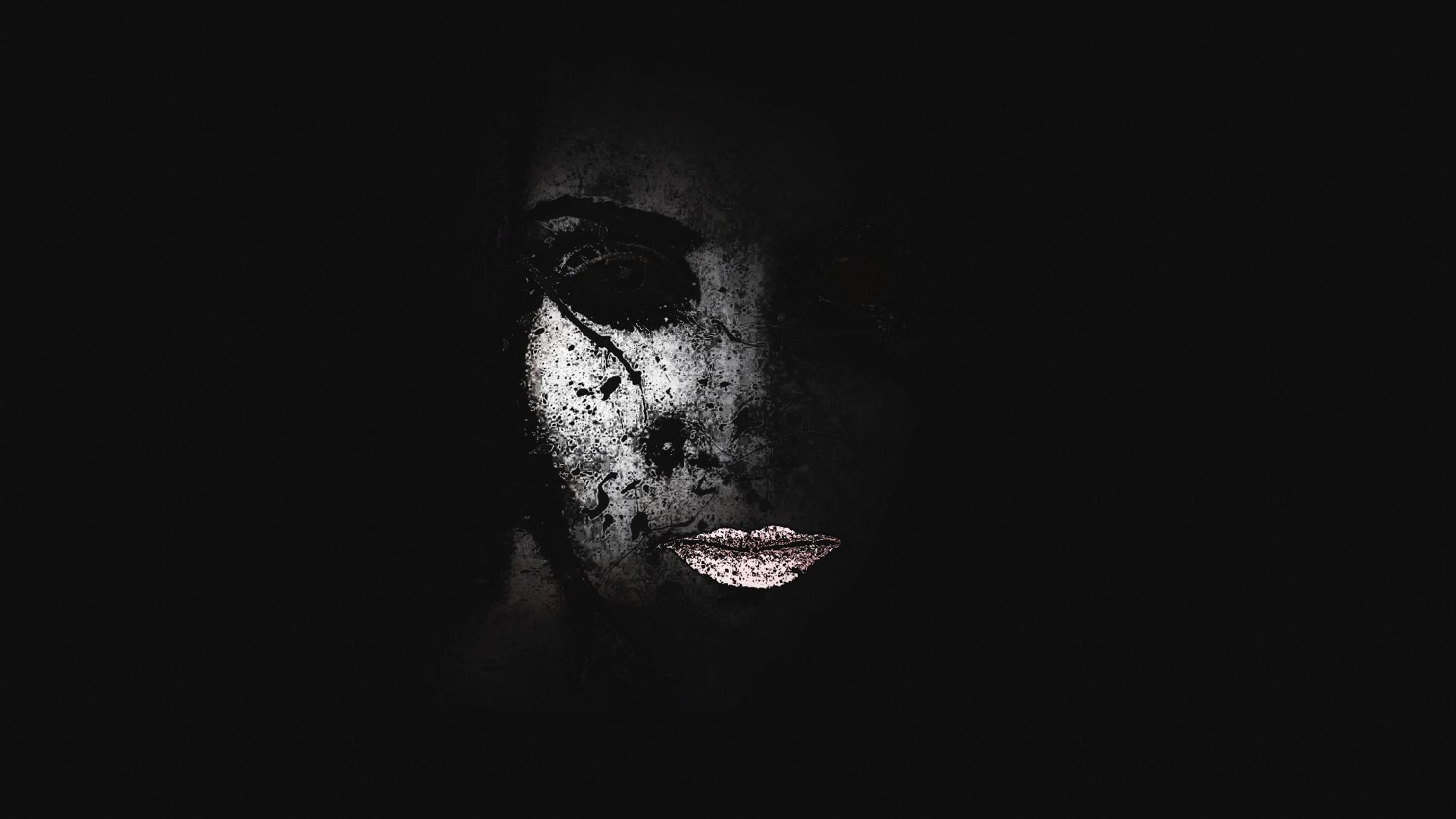General 1920x1080 women pink lipstick dark face