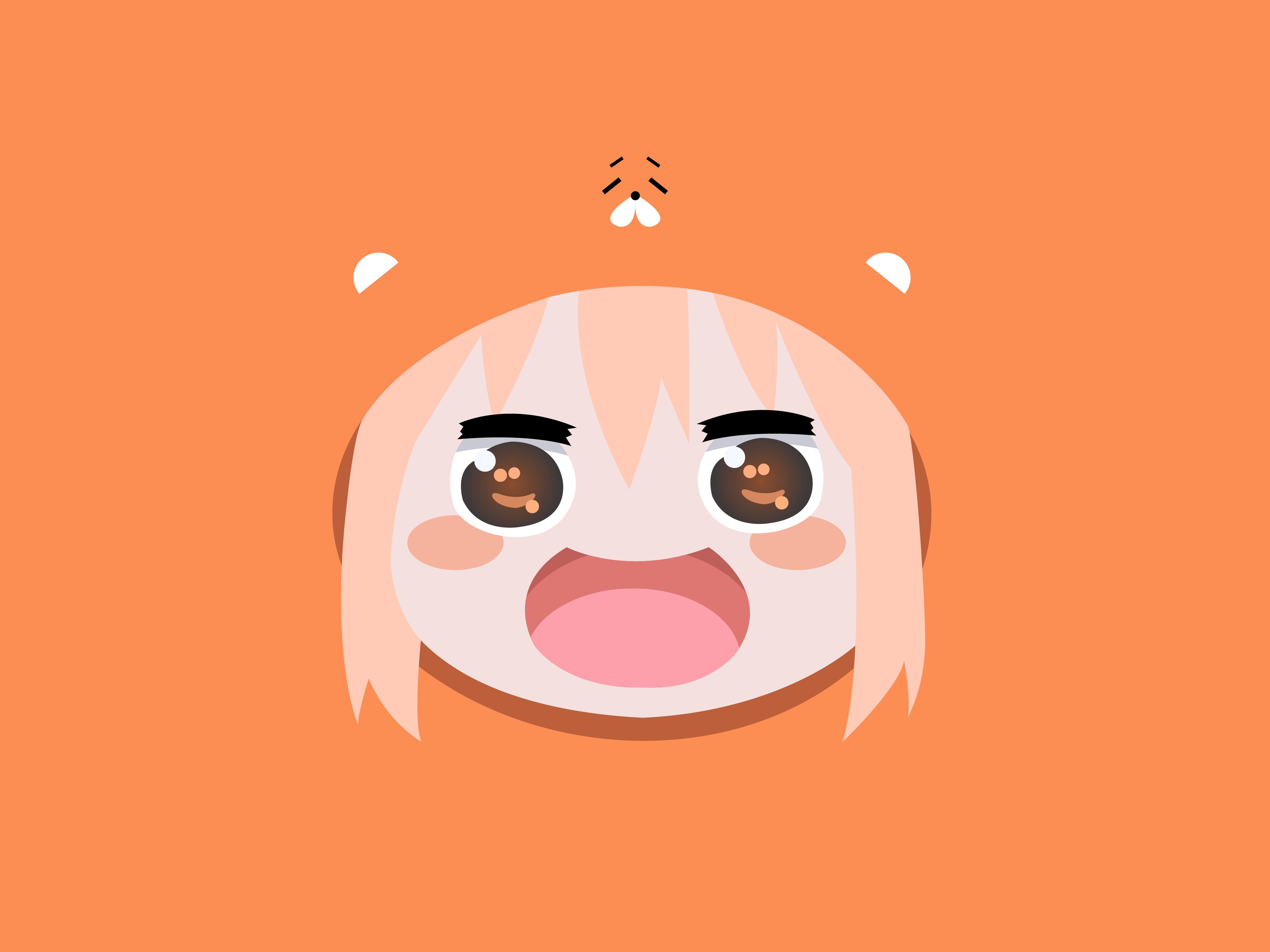 Anime 4267x3200 anime anime girls Himouto! Umaru-chan Doma Umaru minimalism simple background