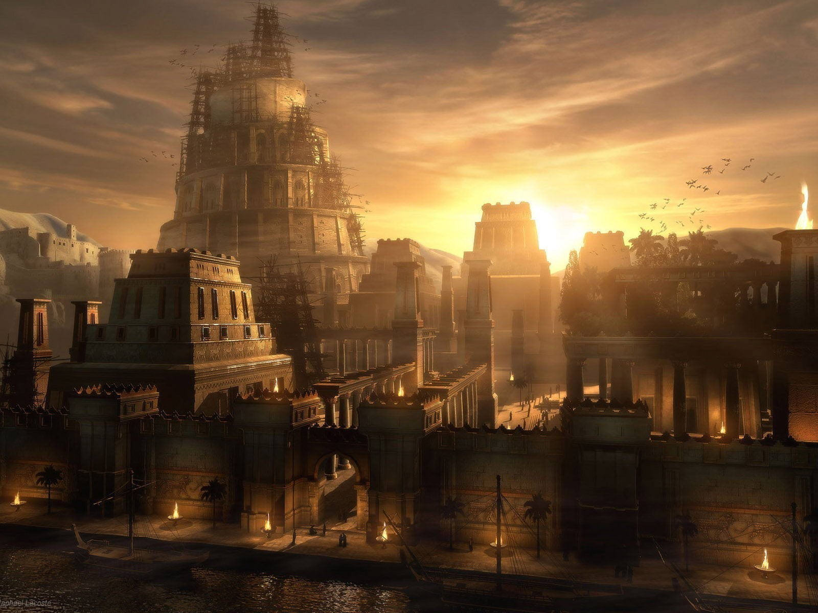 General 1600x1200 city digital art fantasy art Prince Of Persia : Warrior Within