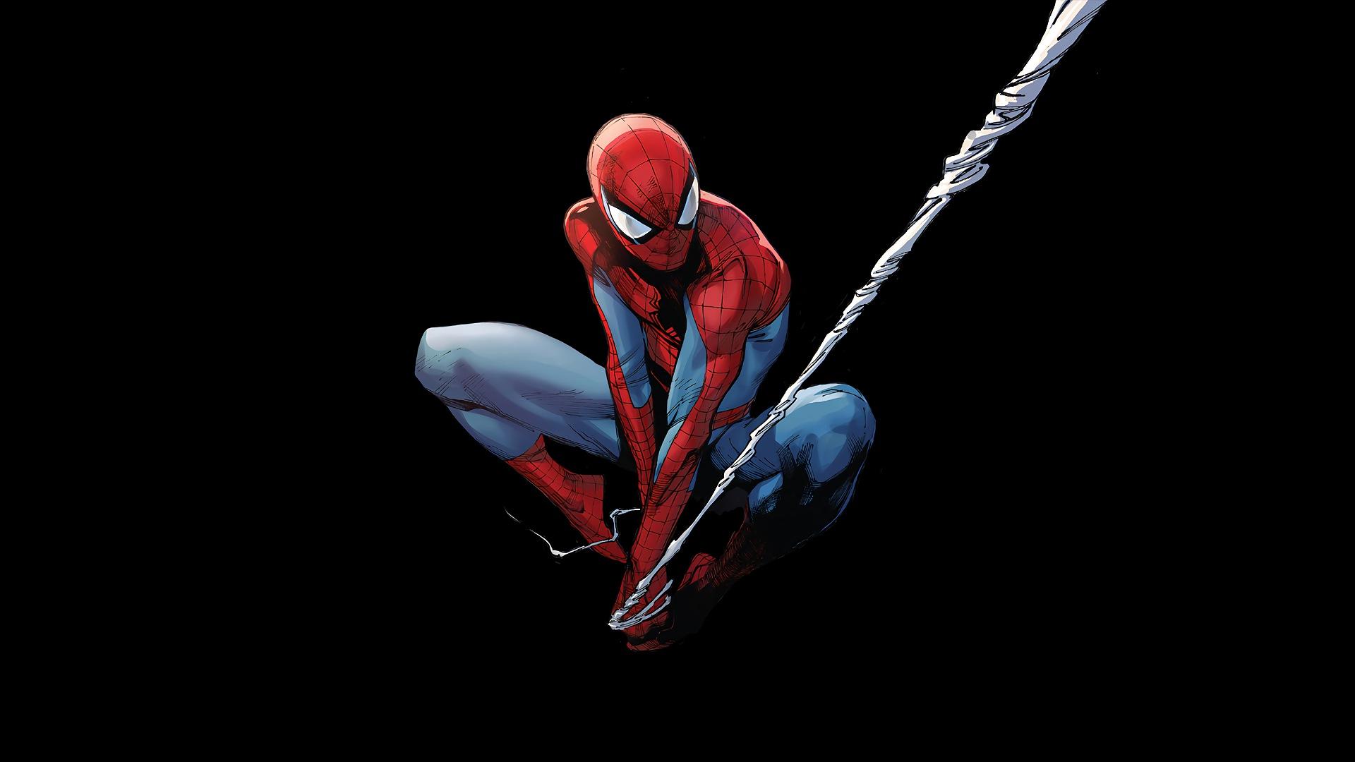 General 1920x1080 Marvel Comics Spider-Man black background superhero