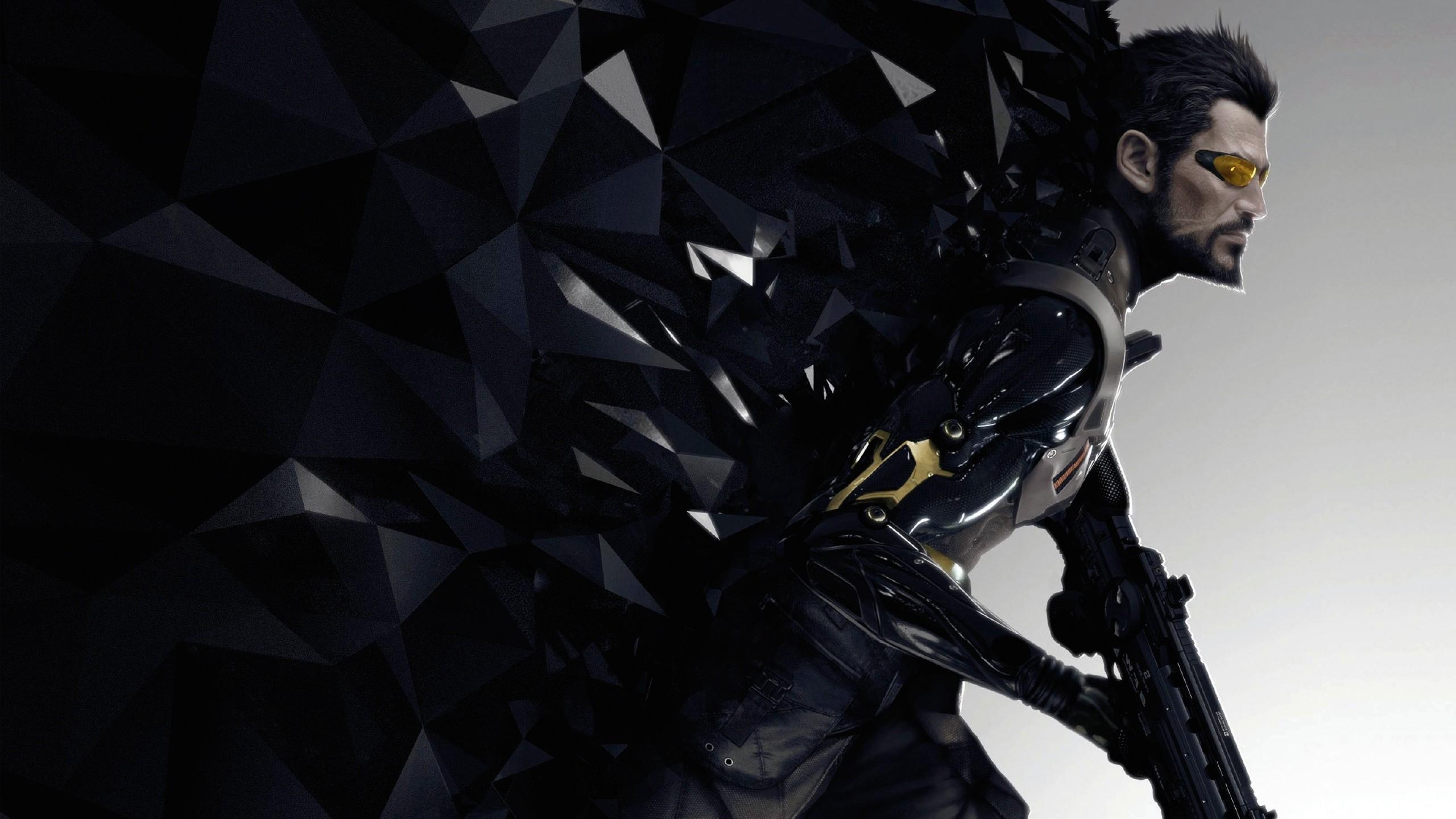 General 2560x1440 Deus Ex Deus Ex: Mankind Divided Square Enix Adam Jensen video games PC gaming science fiction video game art weapon men