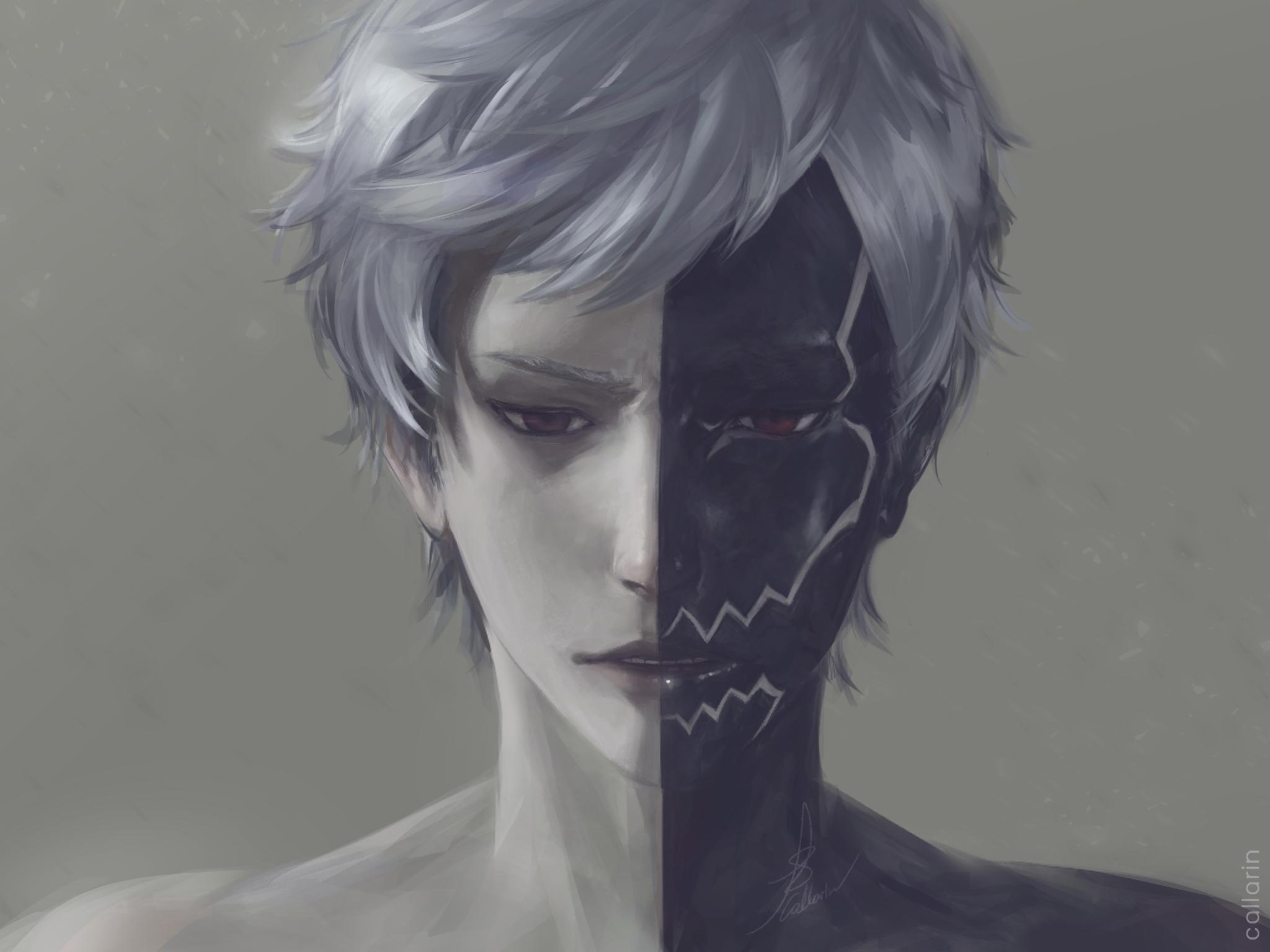 Anime 2048x1536 NieR Nier: Automata Two-Face