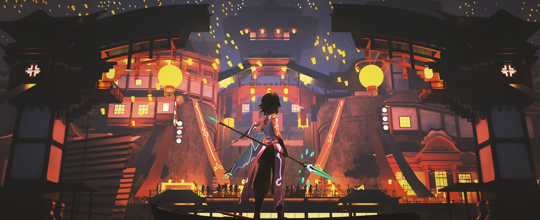 Anime 5800x2374 Lantern Festival lantern Genshin Genshin Impact