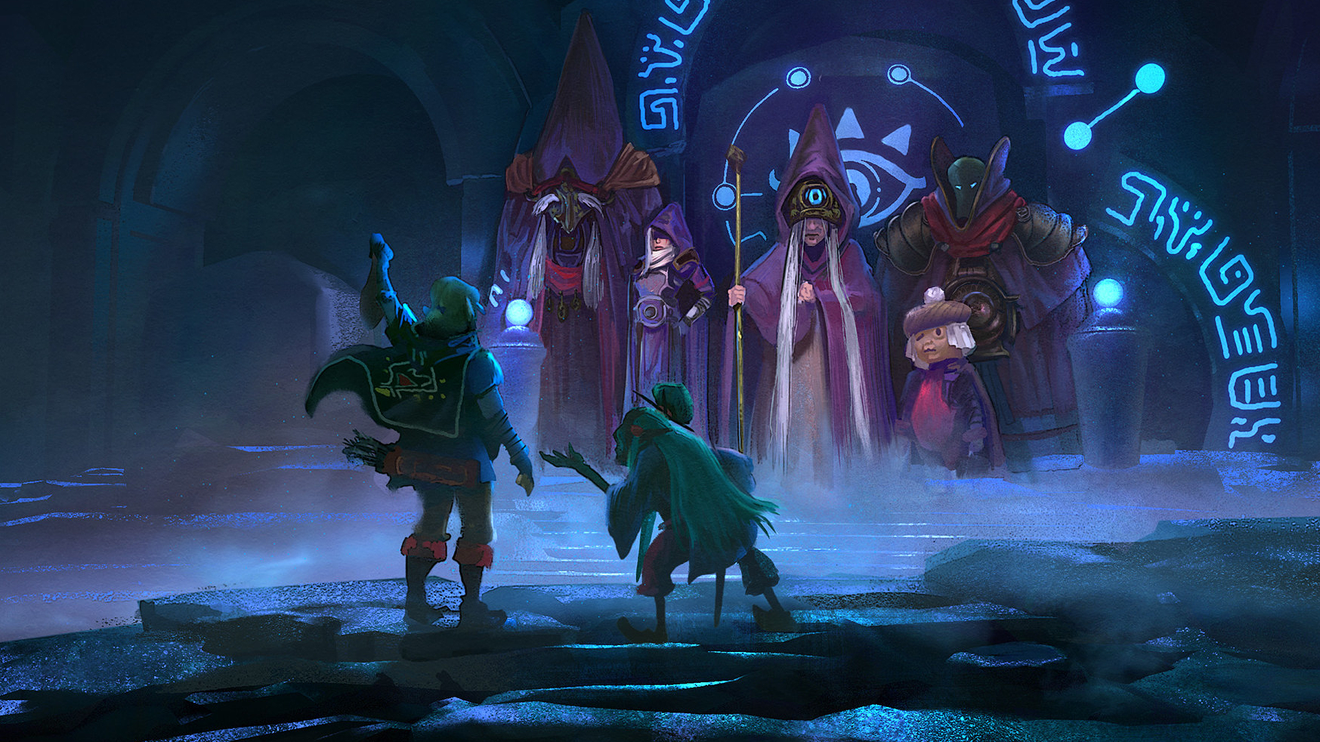 General 1920x1080 Tyler Edlin digital art artwork The Legend of Zelda: Breath of the Wild Link video game art fantasy art video game characters cave