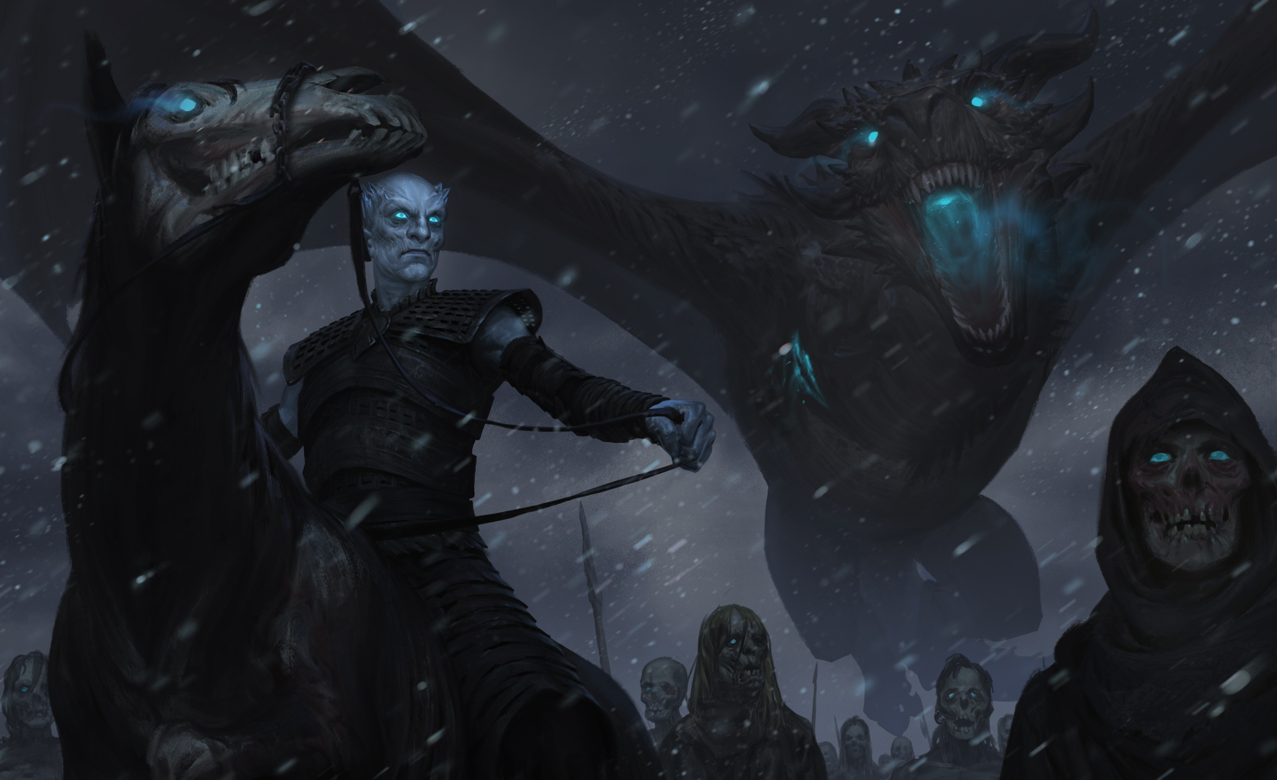 General 2520x1539 Game of Thrones tv series fantasy art artwork dragon creature George R. R. Martin