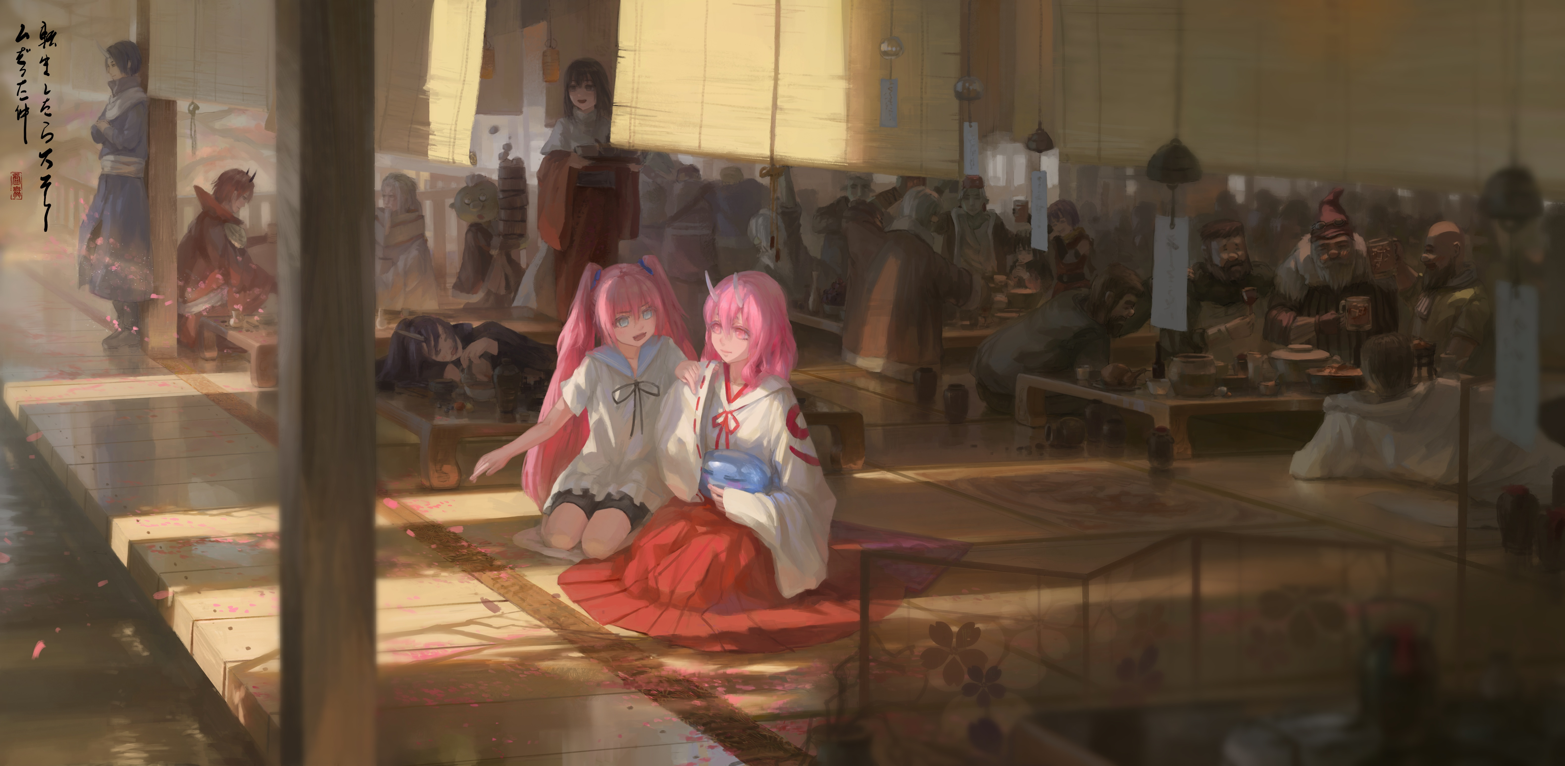 Anime 6320x3094 Tensei Shitara Slime Datta Ken Milim Nava Benimaru Nikaido Shion (TenSura) Shuna Souei anime void_0