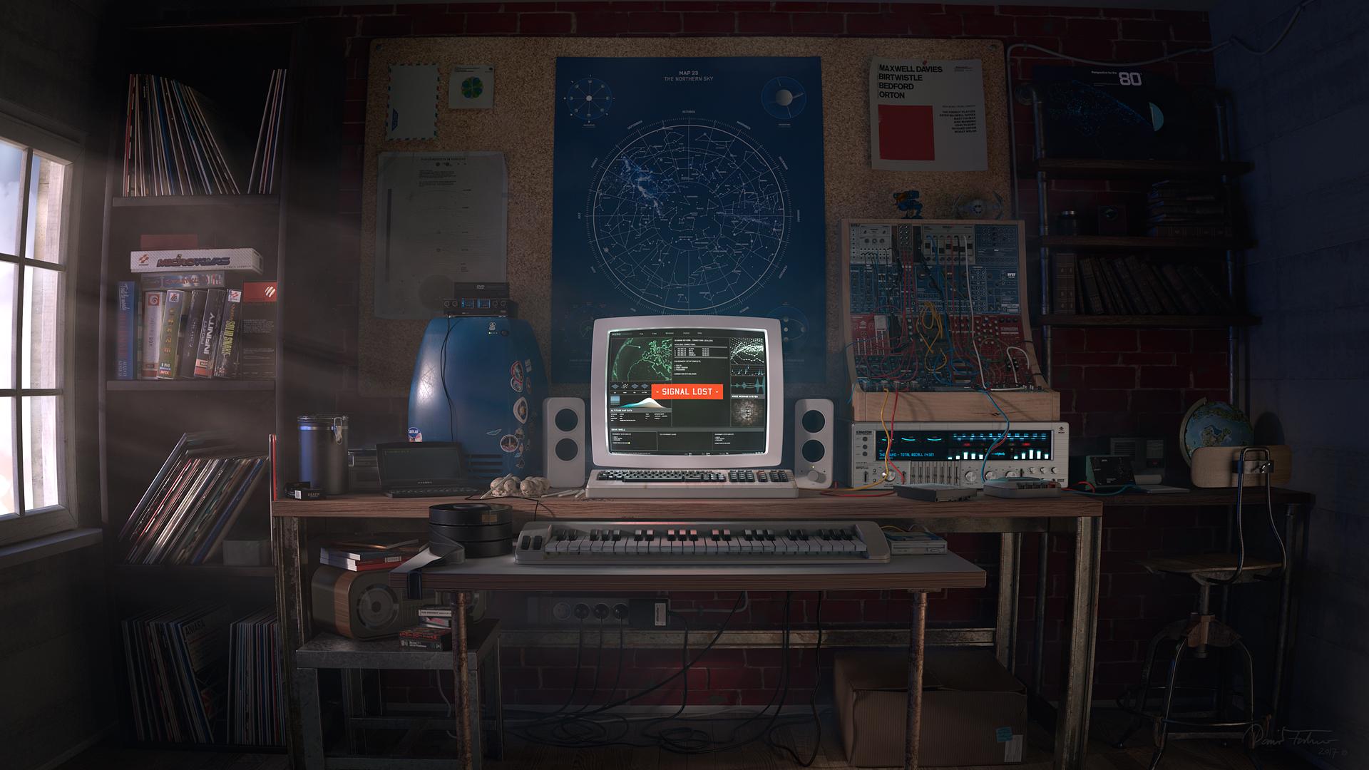 General 1920x1080 digital art computer map interior room